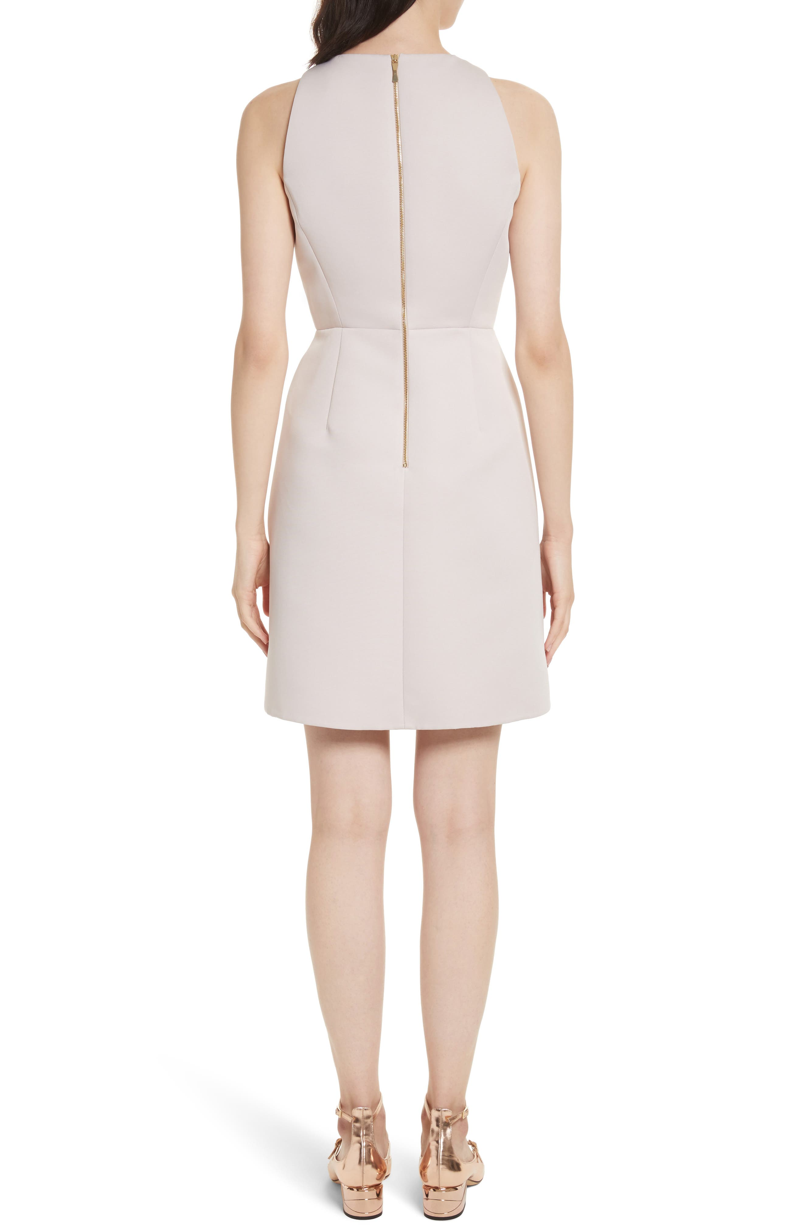 sequin bow A-line dress,                             Alternate thumbnail 2, color,                             672