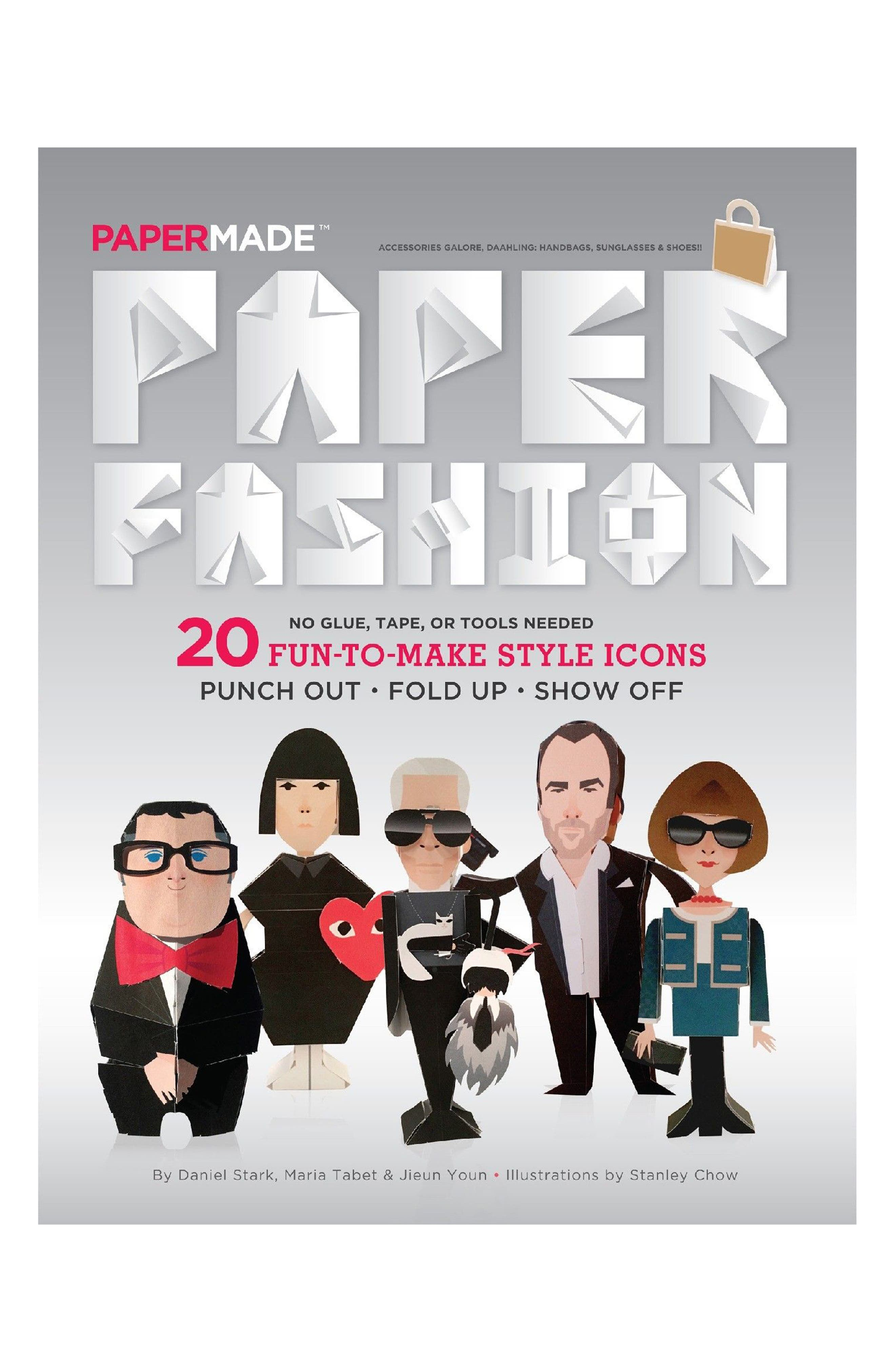 Papermade<sup>™</sup> 'Paper Fashion' Style Icon Paper Doll Book,                             Main thumbnail 1, color,                             001