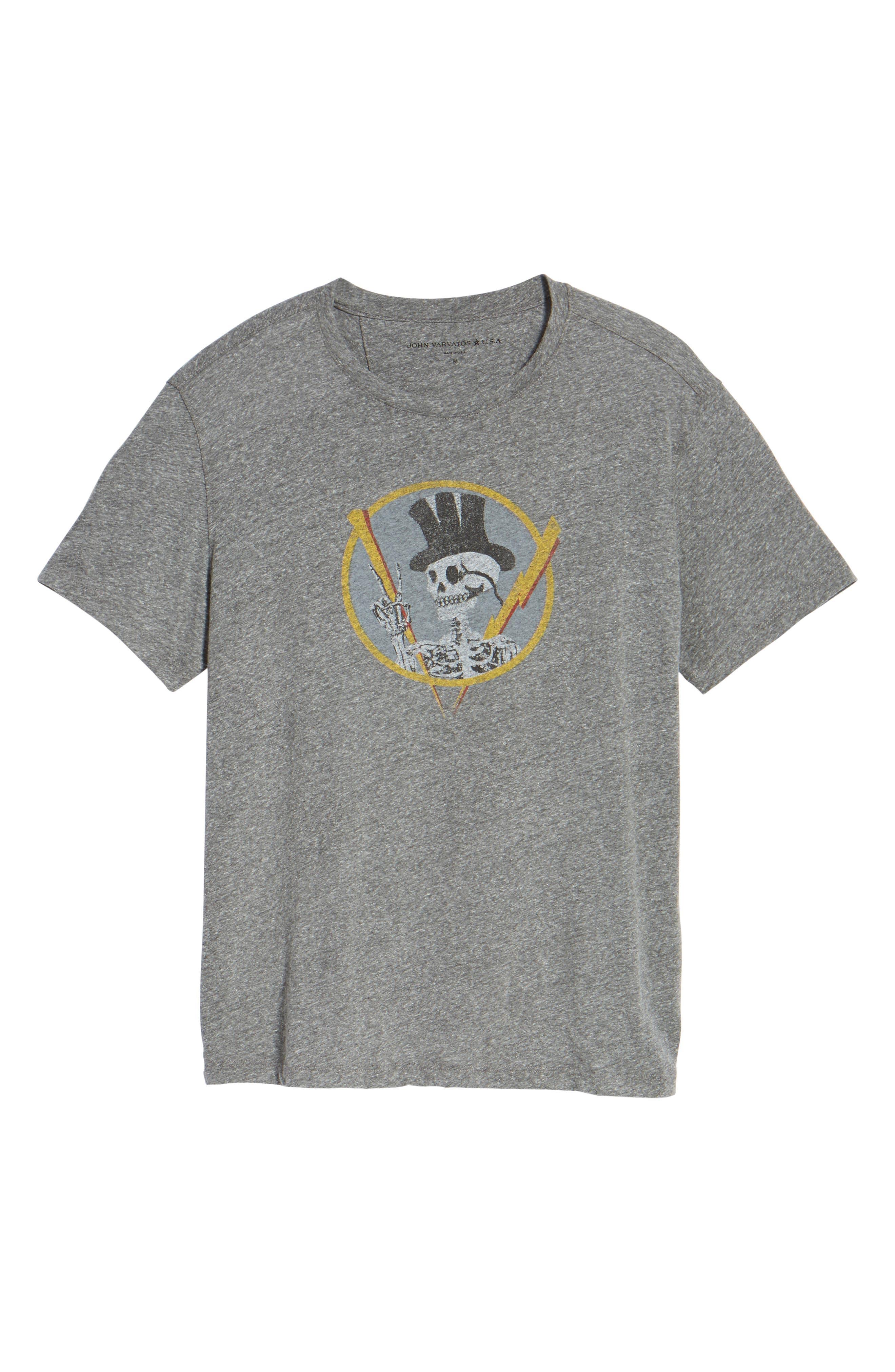 Top Hat Skull Graphic T-Shirt,                             Alternate thumbnail 6, color,                             073