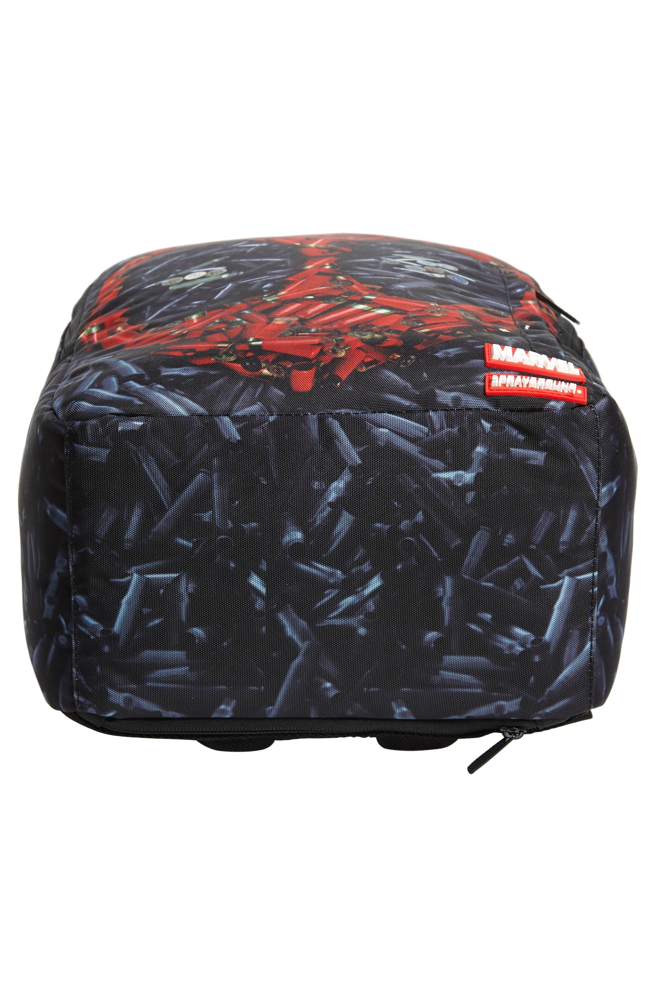 Deadpool Bullets Backpack,                             Alternate thumbnail 6, color,                             001