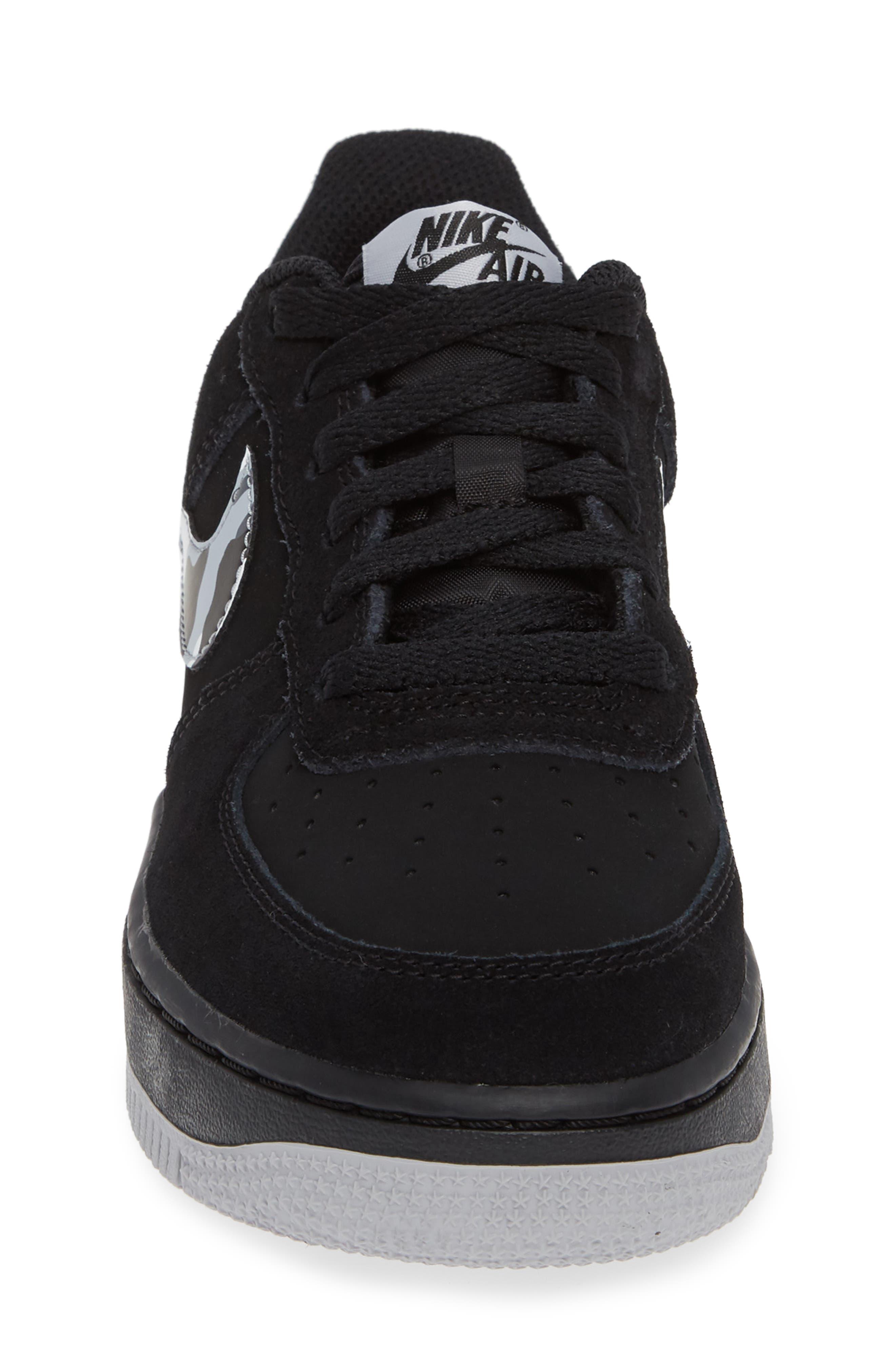 Air Force 1 Sneaker,                             Alternate thumbnail 4, color,                             BLACK/ GREY/ WHITE