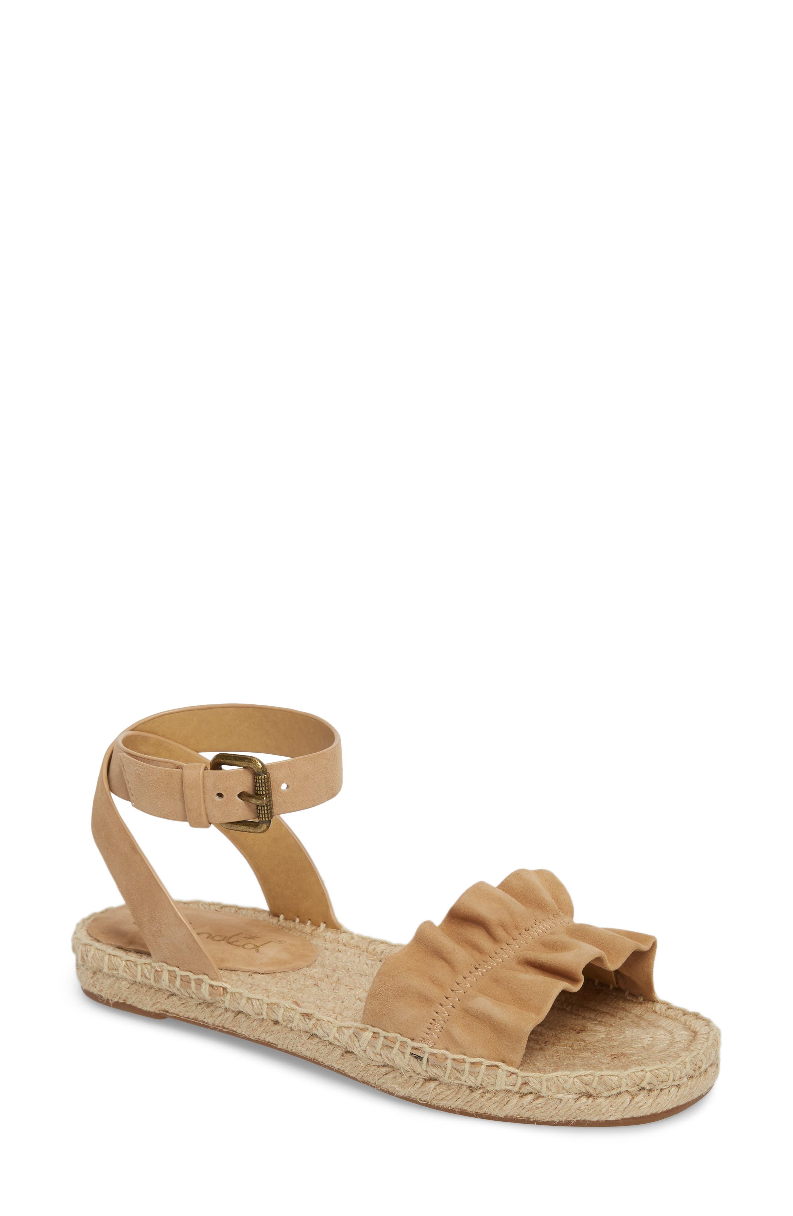 Becca Ruffled Espadrille Sandal,                         Main,                         color,