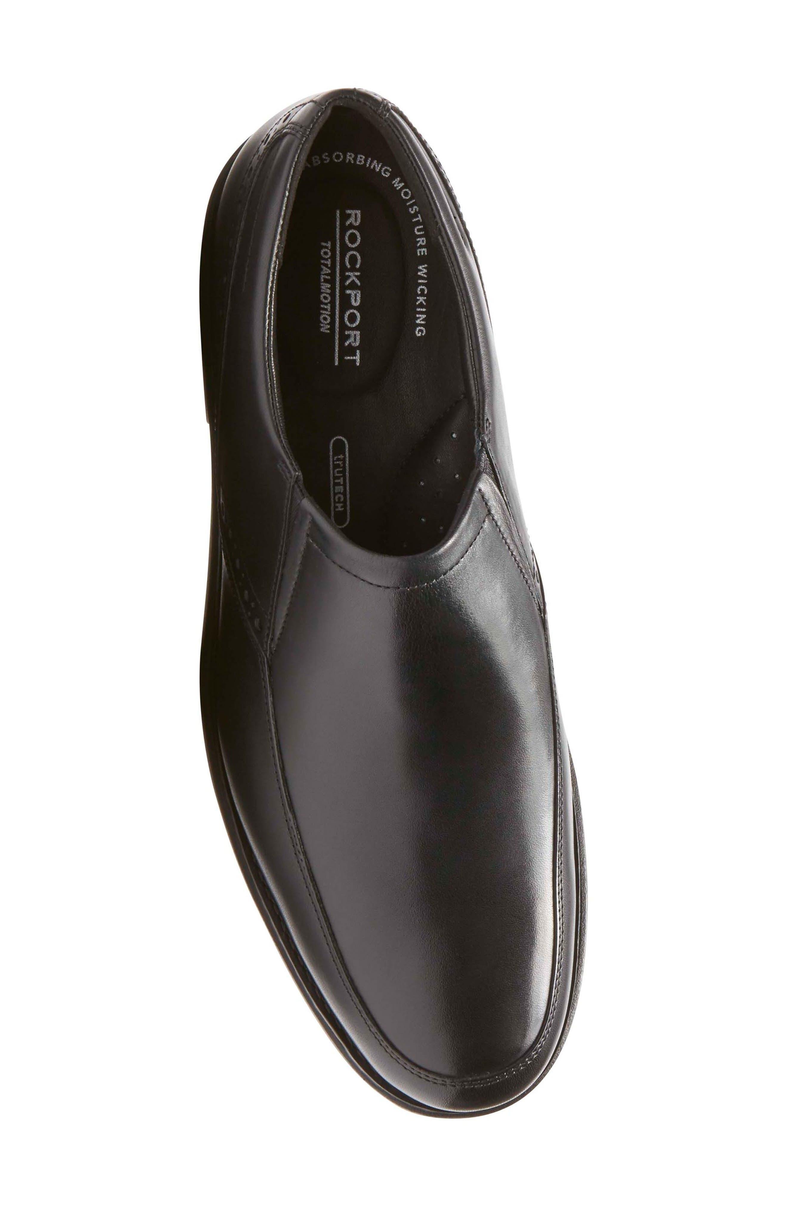 Total Motion Classic Dress Venetian Loafer,                             Alternate thumbnail 5, color,                             001
