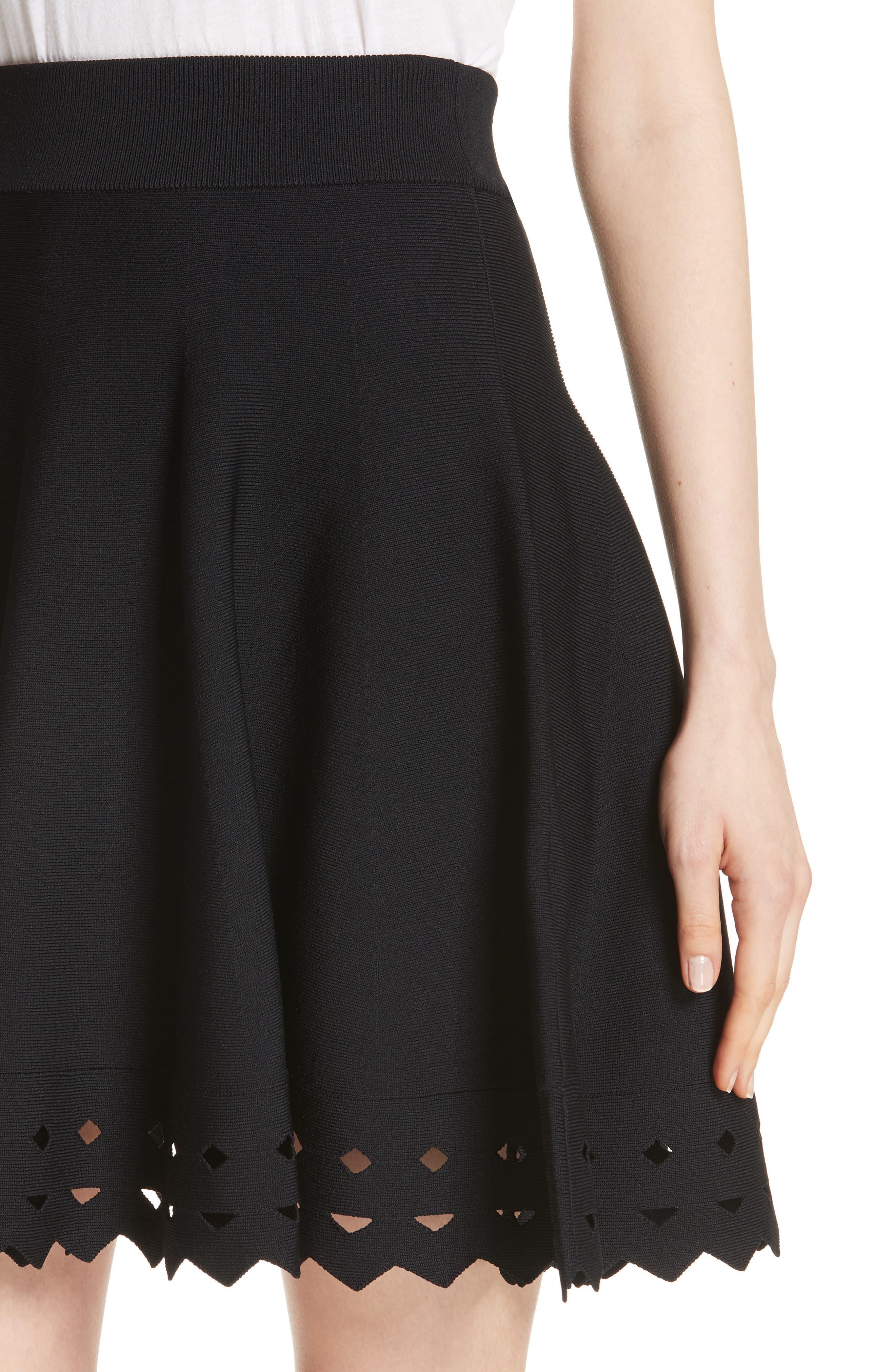 June Cutout Hem Skirt,                             Alternate thumbnail 4, color,                             001
