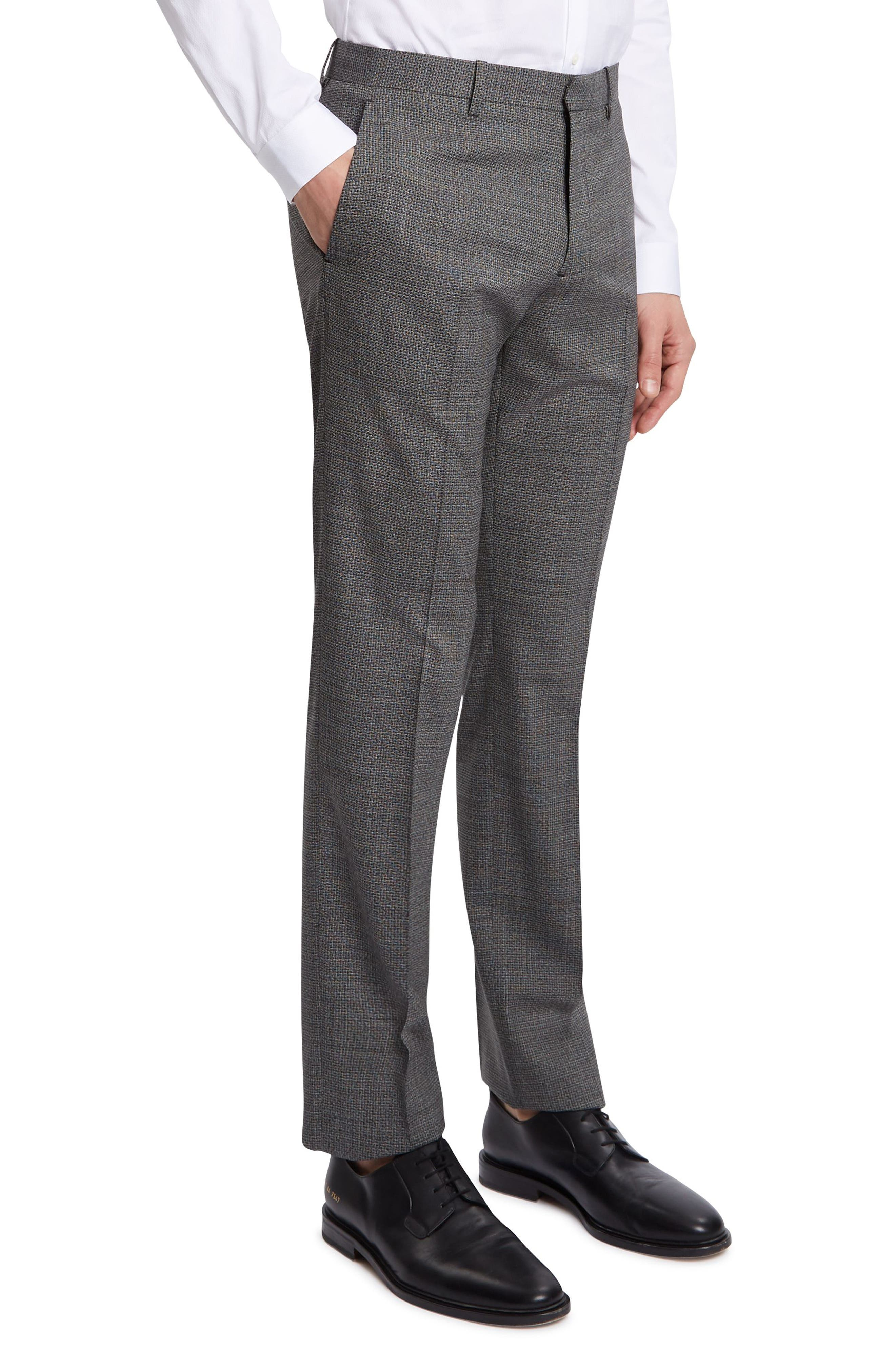 THEORY,                             Mayer Marled Suit Pants,                             Alternate thumbnail 2, color,                             BLACK MULTI