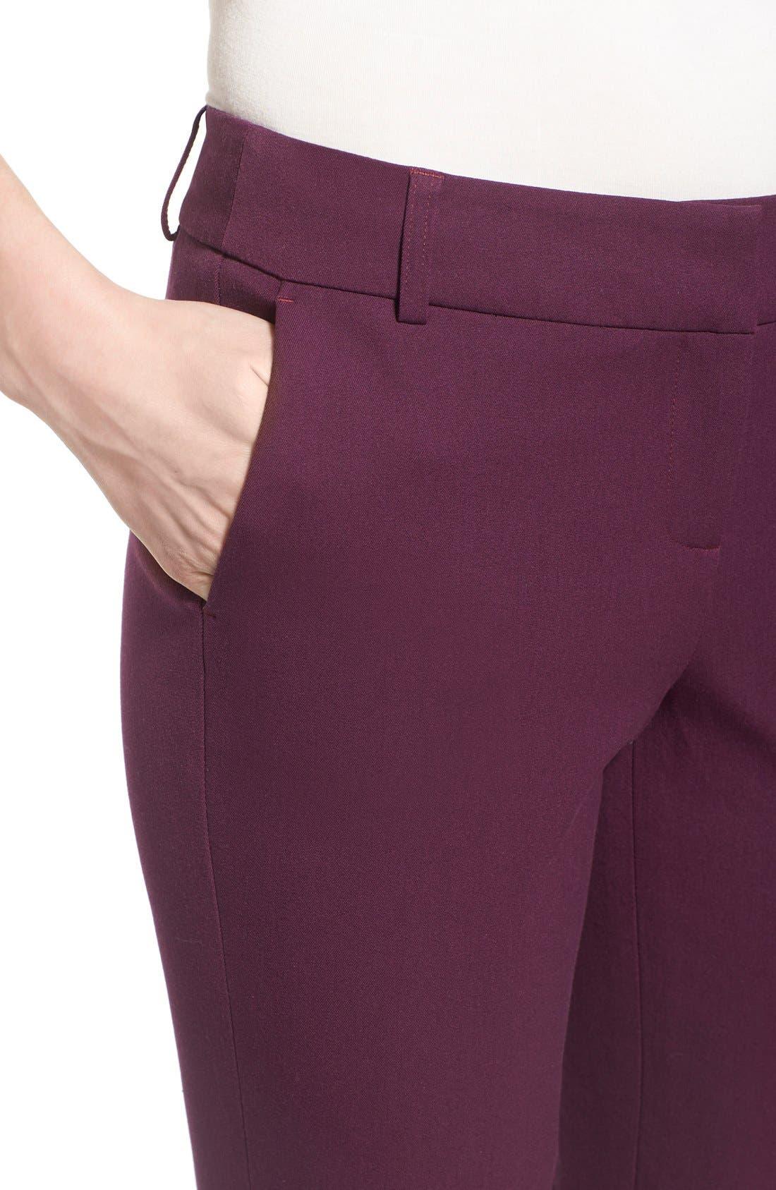 Crop Stretch Cotton Pants,                             Alternate thumbnail 81, color,