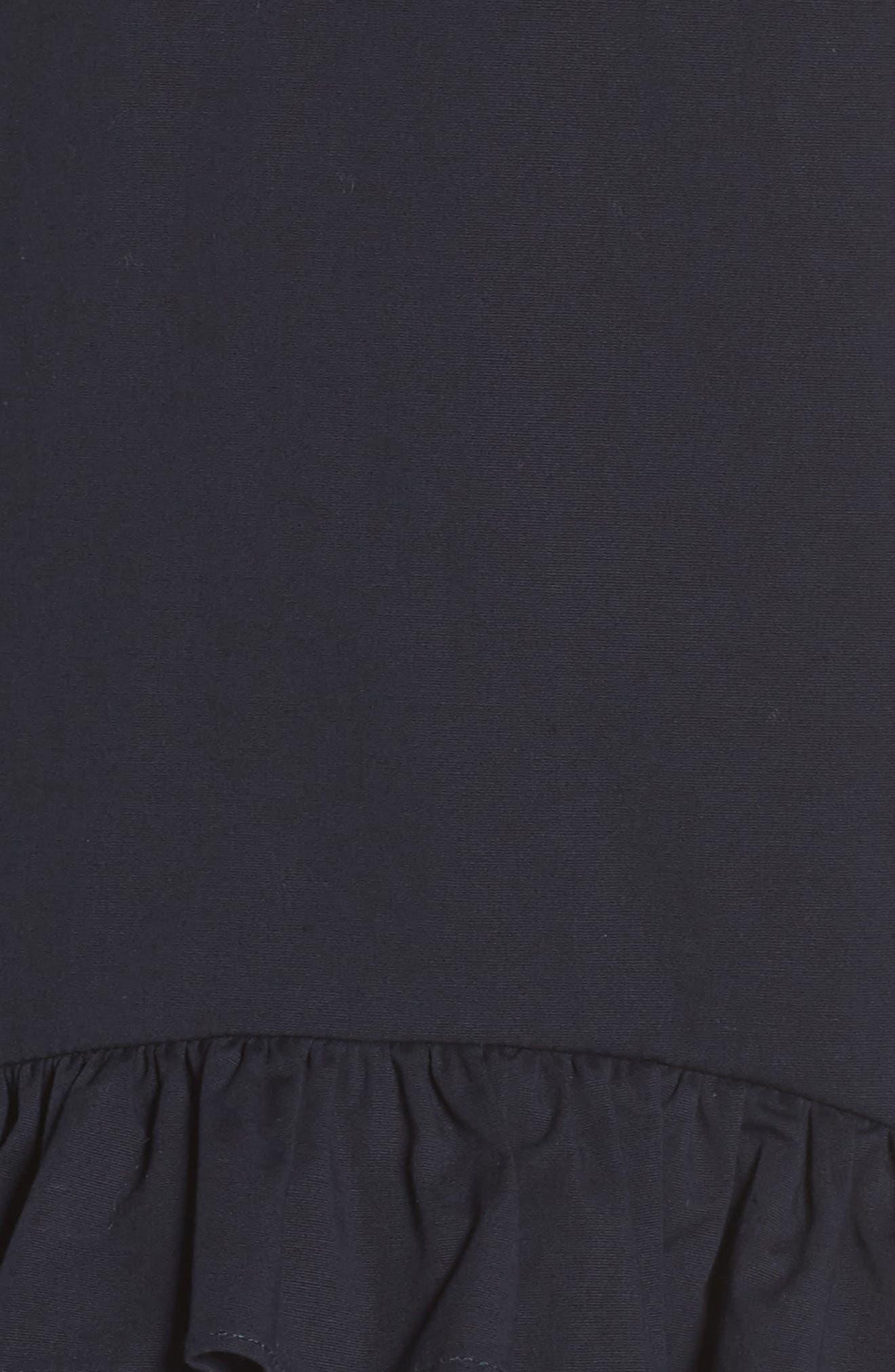 Sleeveless Ruffle High/Low Dress,                             Alternate thumbnail 6, color,                             402