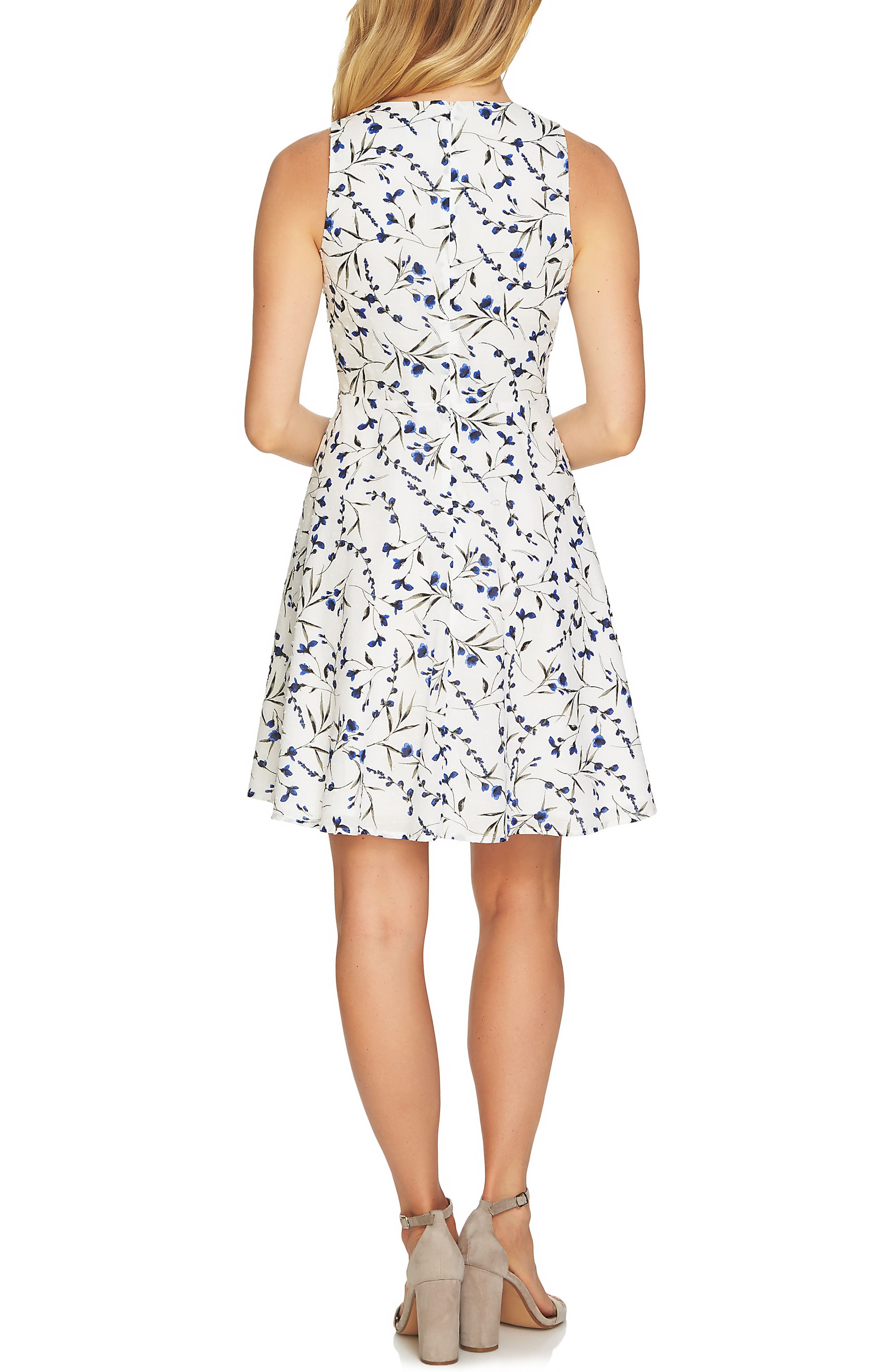 Graceful Floral Pintuck Dress,                             Alternate thumbnail 2, color,                             145
