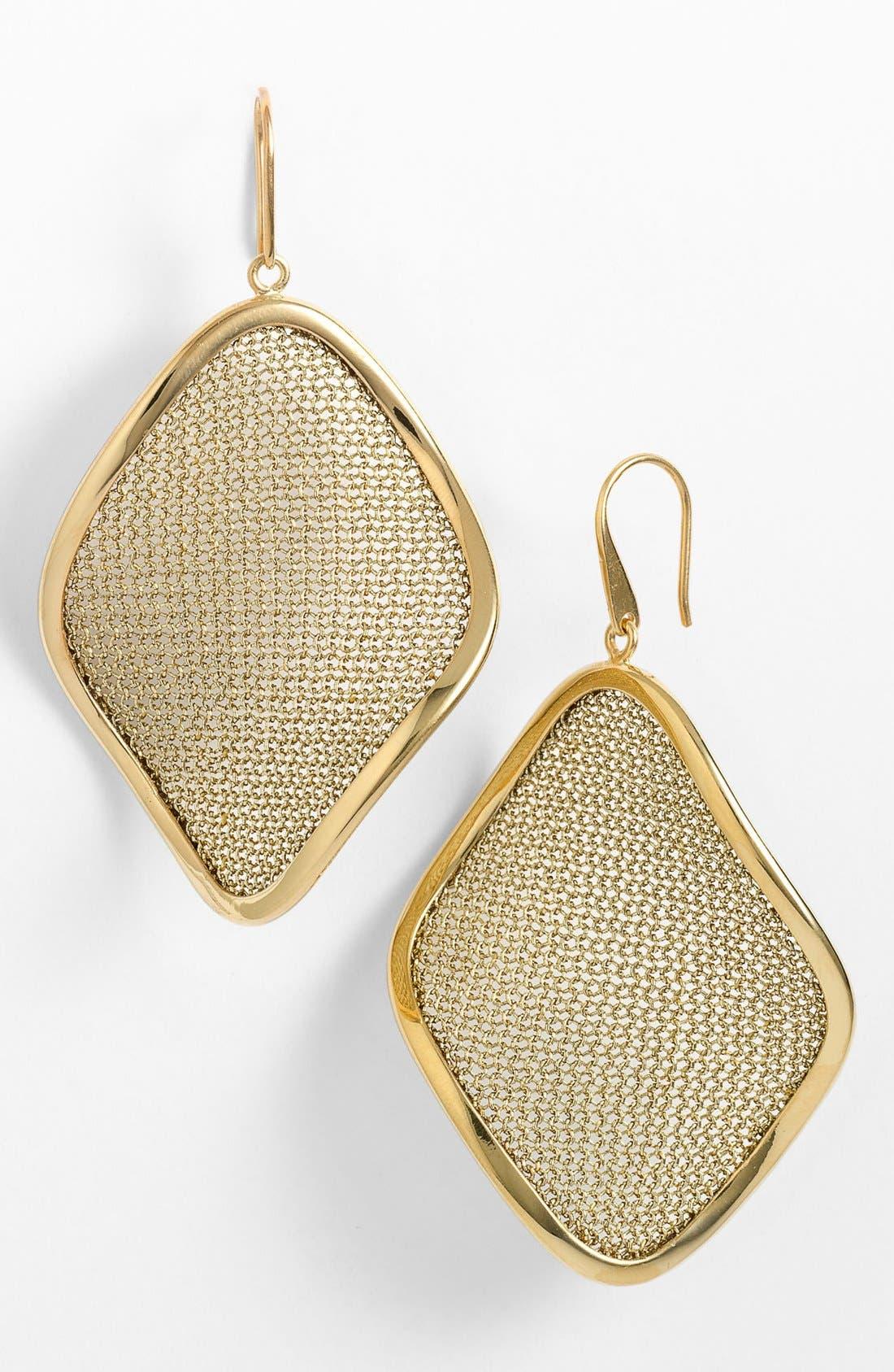 'Mesh' Large Drop Earrings,                             Main thumbnail 4, color,