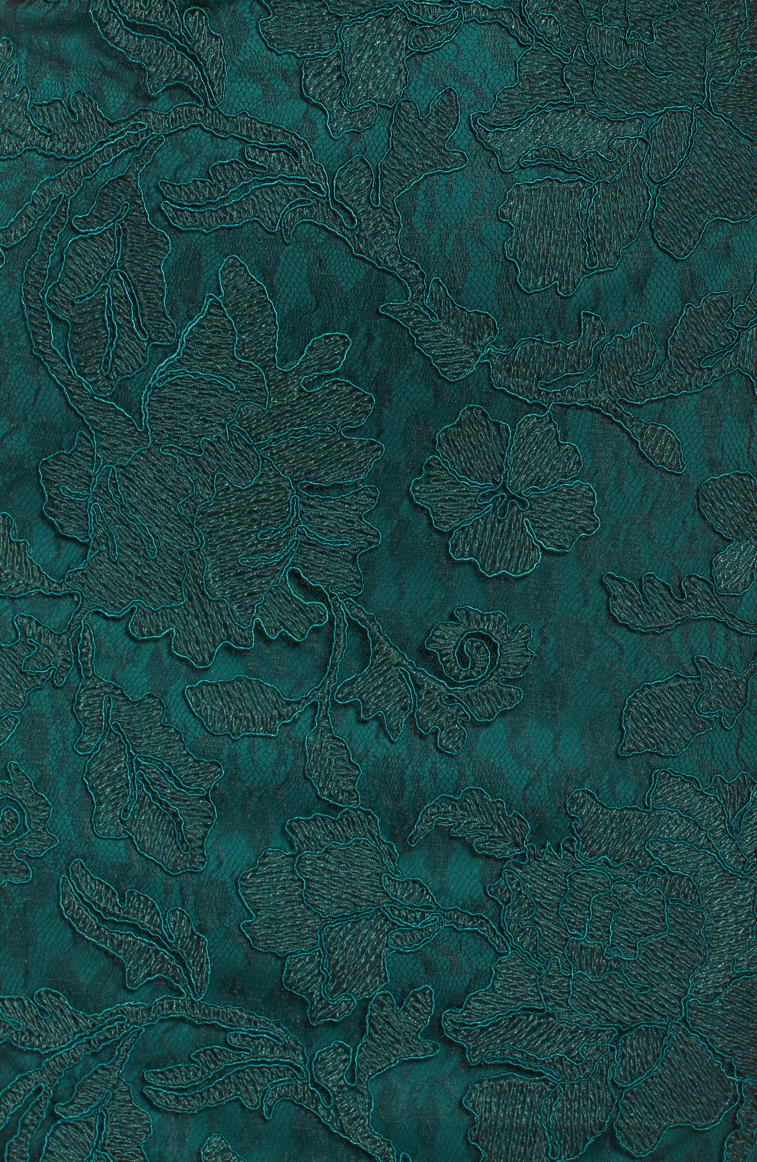 Corded Lace Sheath Dress,                             Alternate thumbnail 5, color,                             376