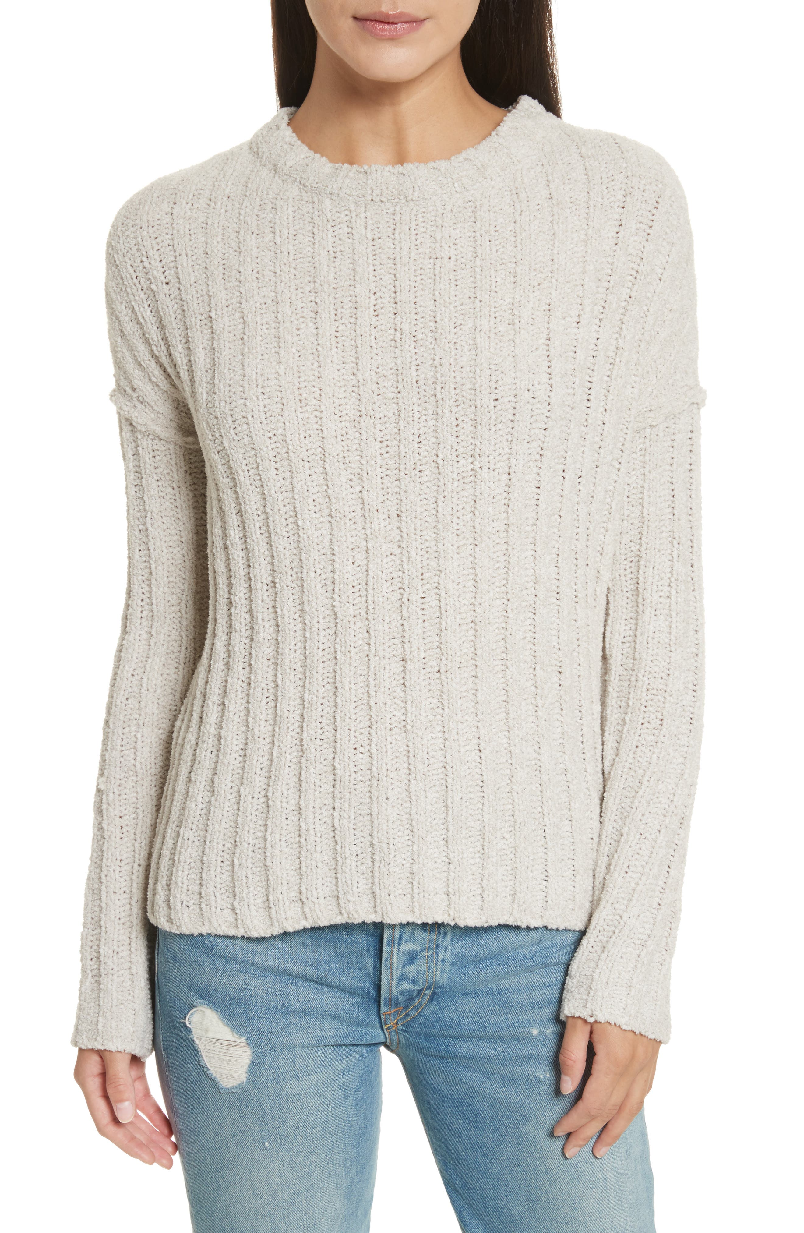 Chenille Crewneck Sweater,                             Main thumbnail 2, color,