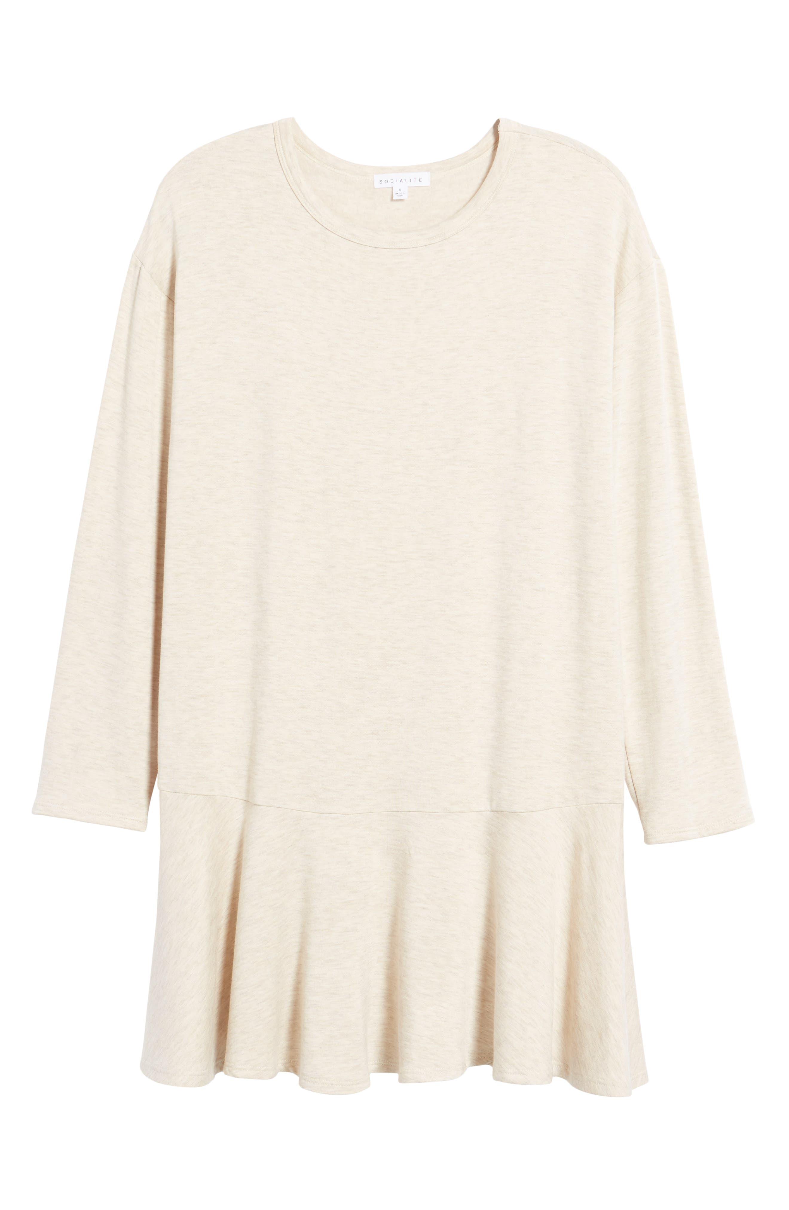 Drop Waist Sweatshirt Dress,                             Alternate thumbnail 18, color,