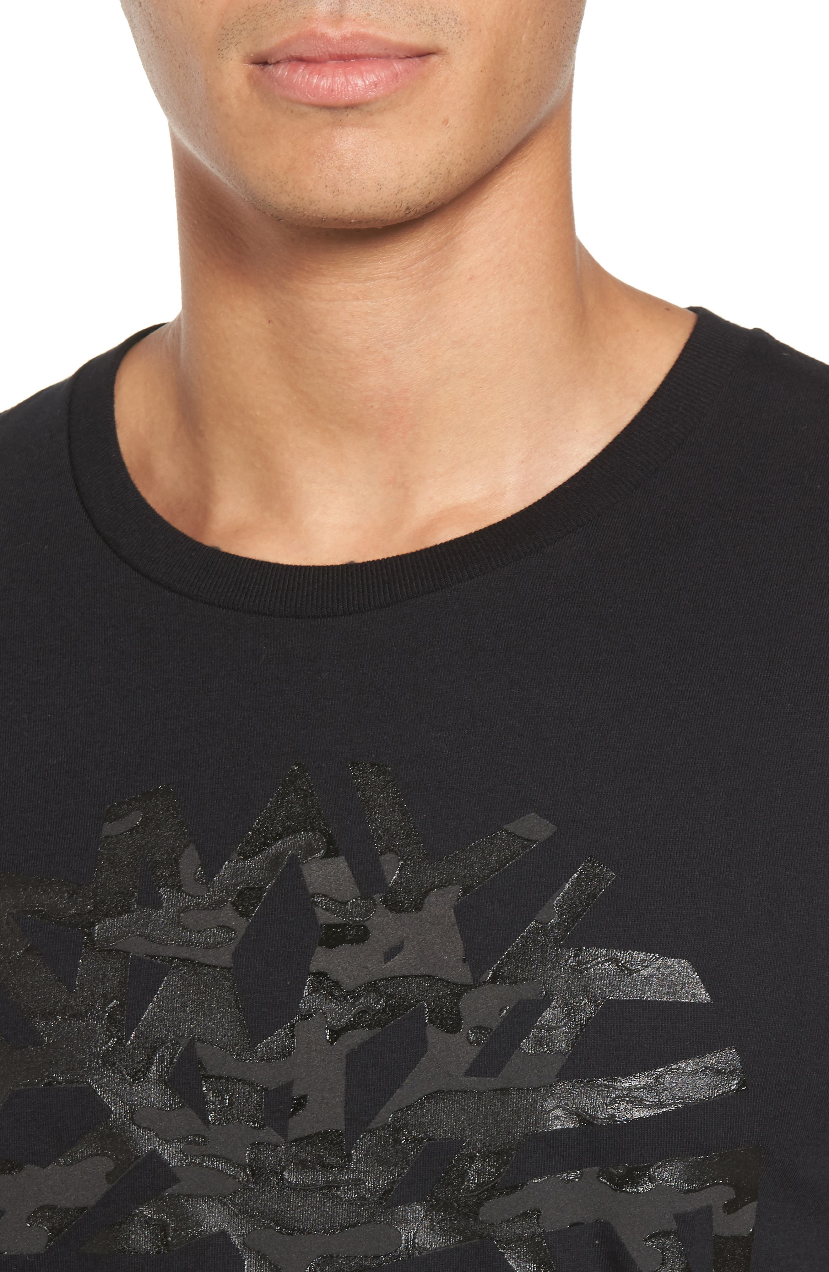Textured Camo Graphic T-Shirt,                             Alternate thumbnail 4, color,                             001