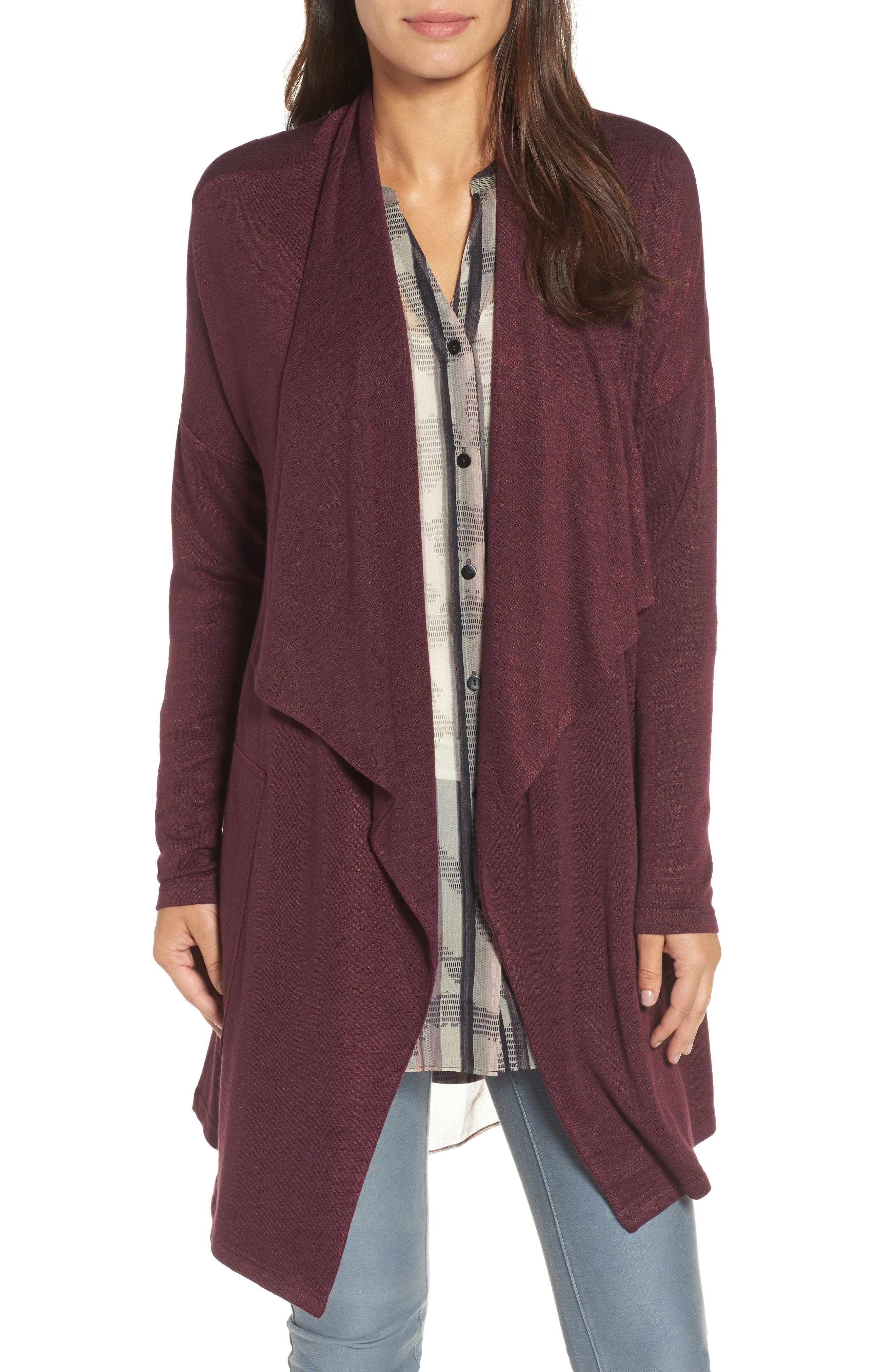 Every Occasion Drape Front Jacket,                             Main thumbnail 4, color,