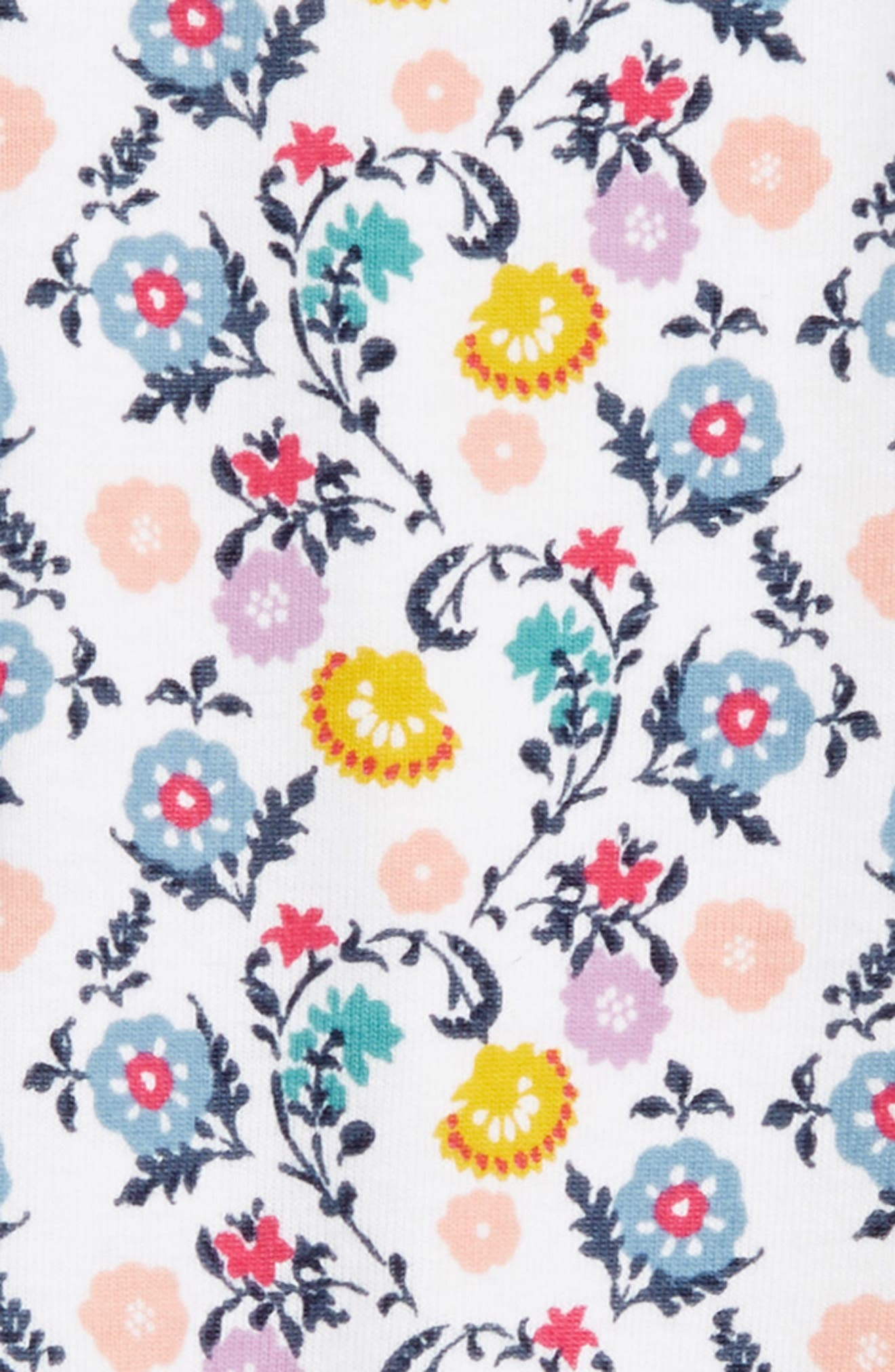 Floral Print Capri Leggings,                             Alternate thumbnail 2, color,                             WOODBLOCK DITSY