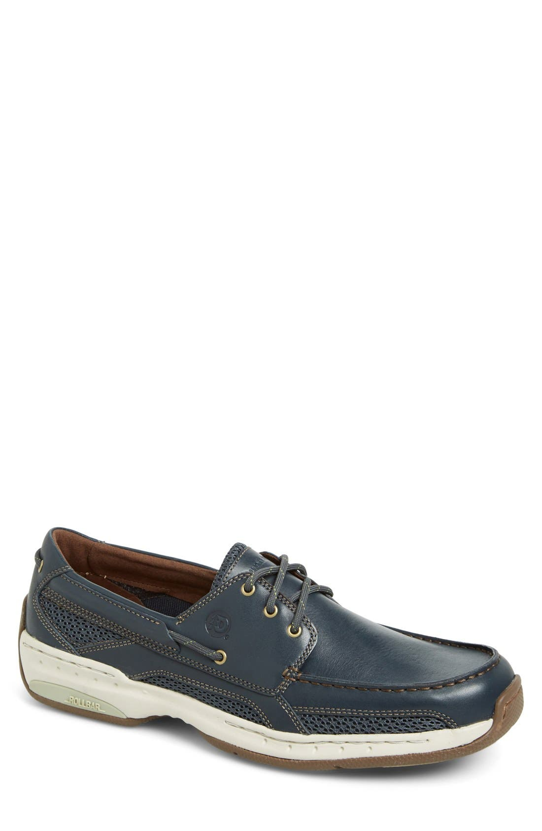 'Captain' Boat Shoe,                             Main thumbnail 1, color,                             NAVY