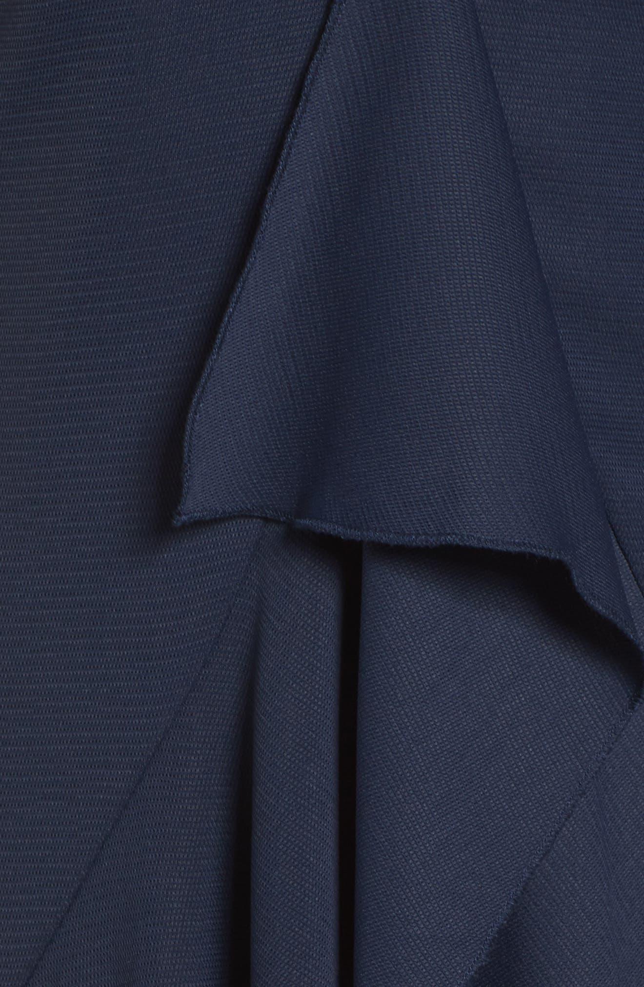 Gossamer Asymmetrical Ruffle Slipdress,                             Alternate thumbnail 9, color,