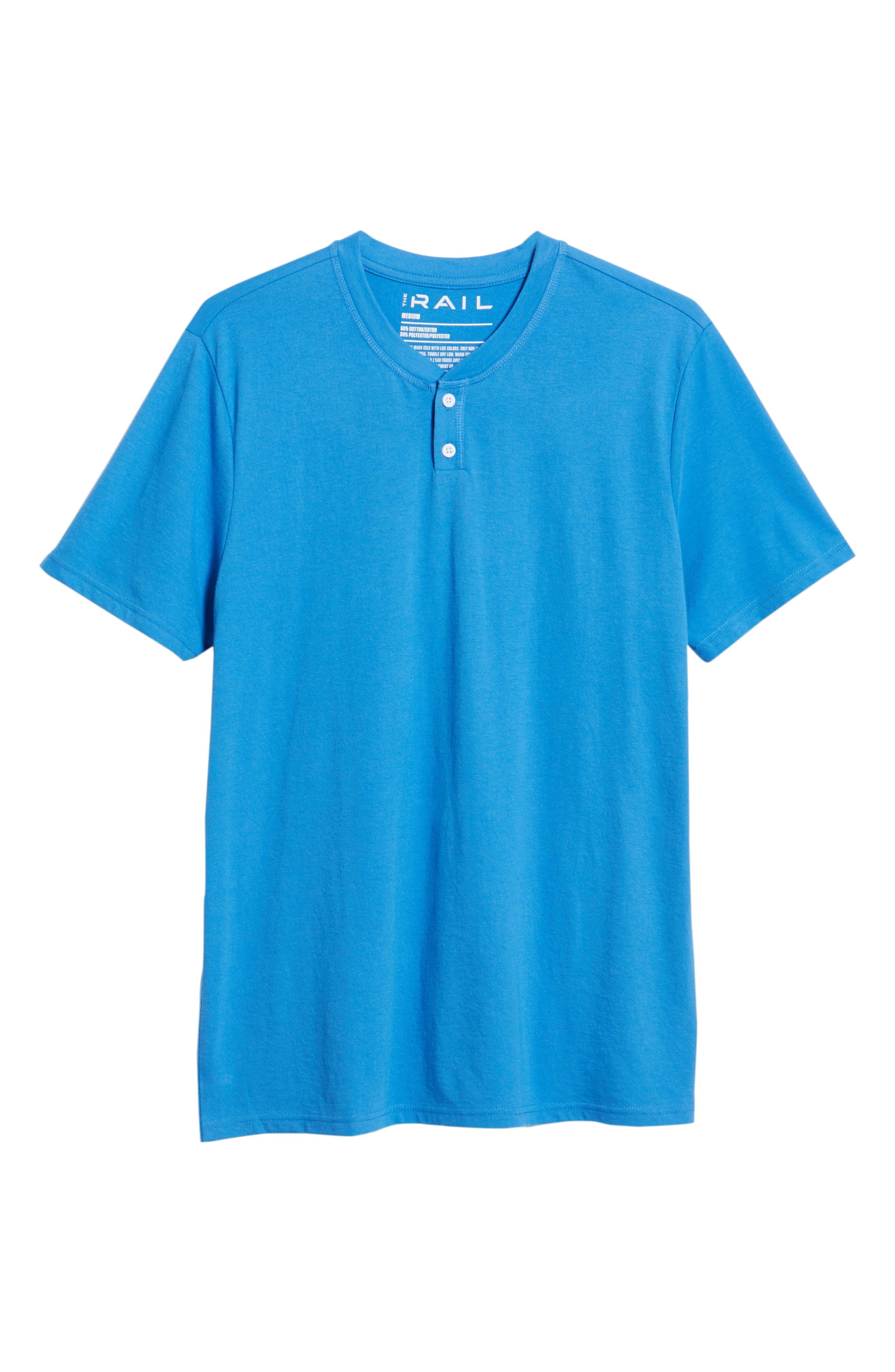 Solid Henley T-Shirt,                             Alternate thumbnail 6, color,                             BLUE BLISS