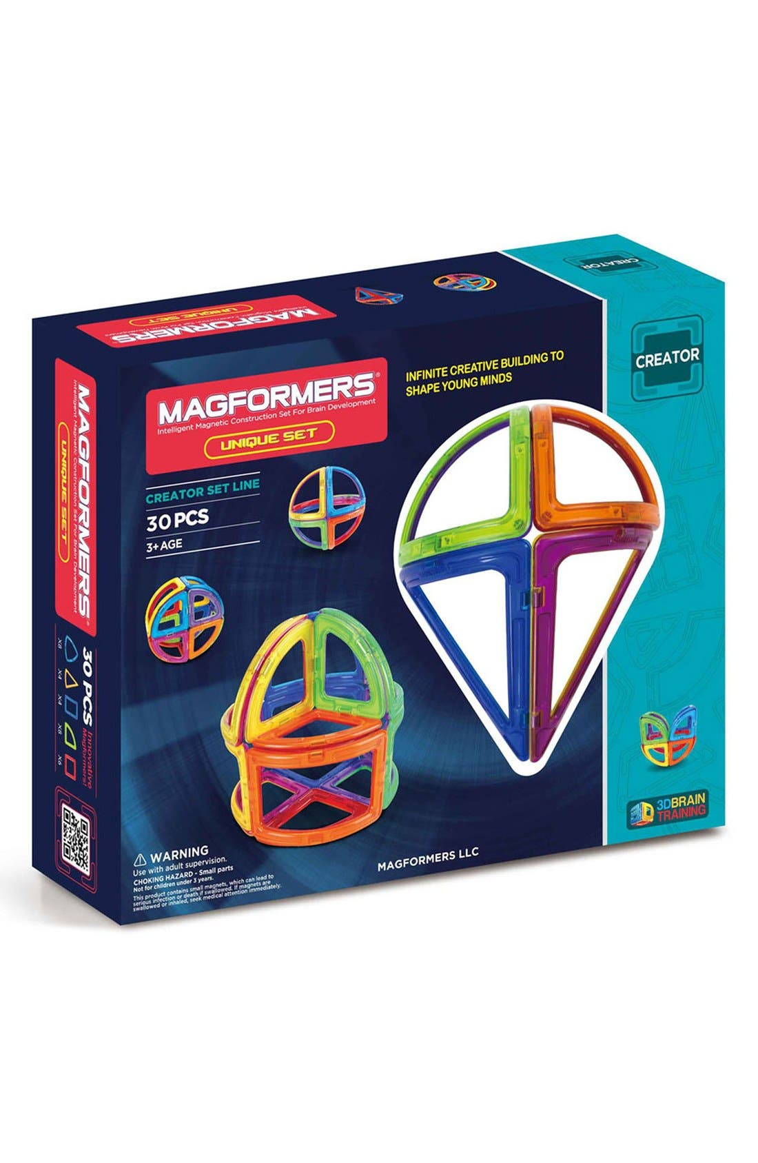 'Creator - Unique' Magnetic 3D Construction Set,                             Main thumbnail 1, color,                             400