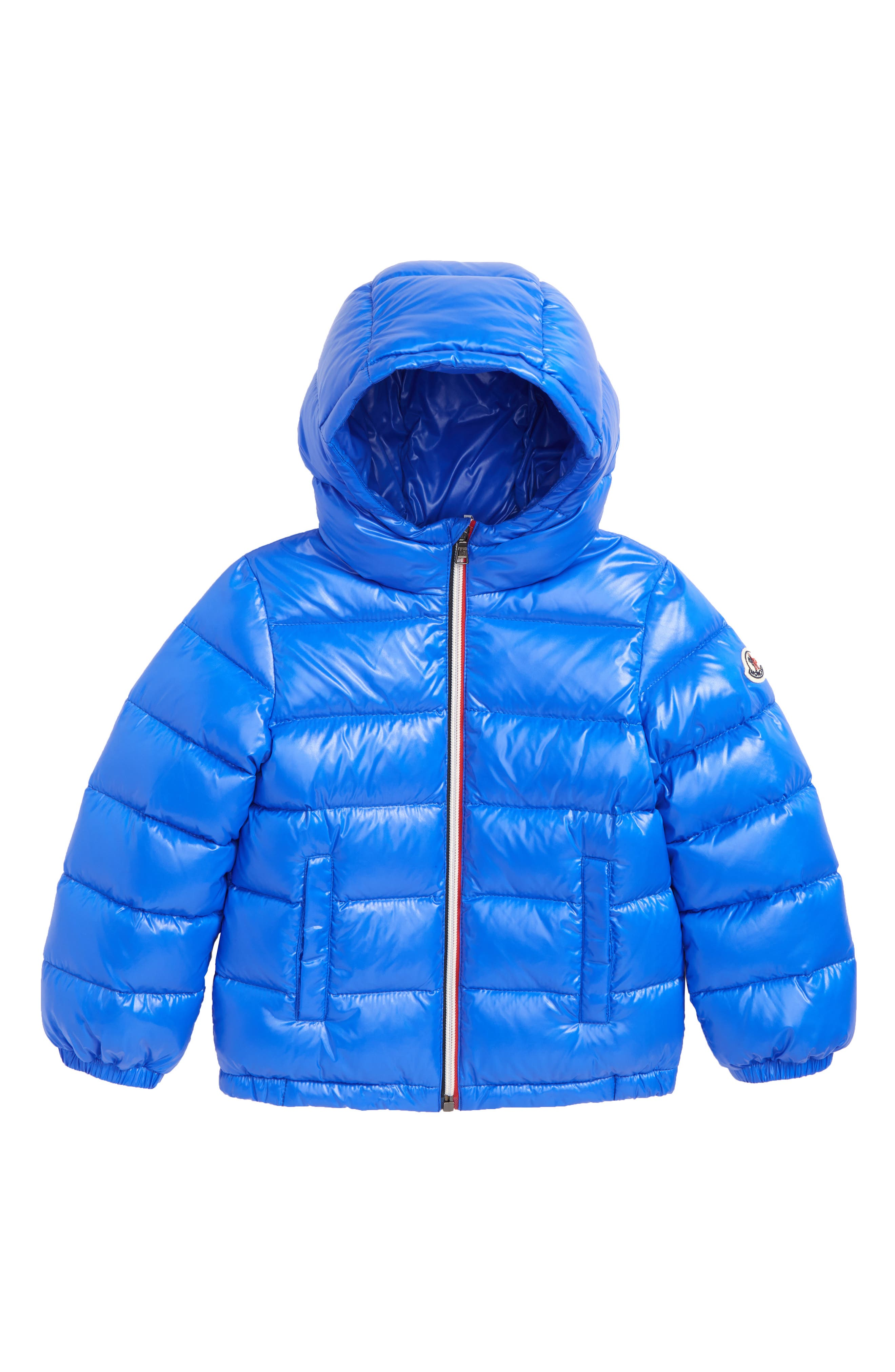 New Aubert Hooded Down Jacket,                             Main thumbnail 1, color,                             BRIGHT BLUE