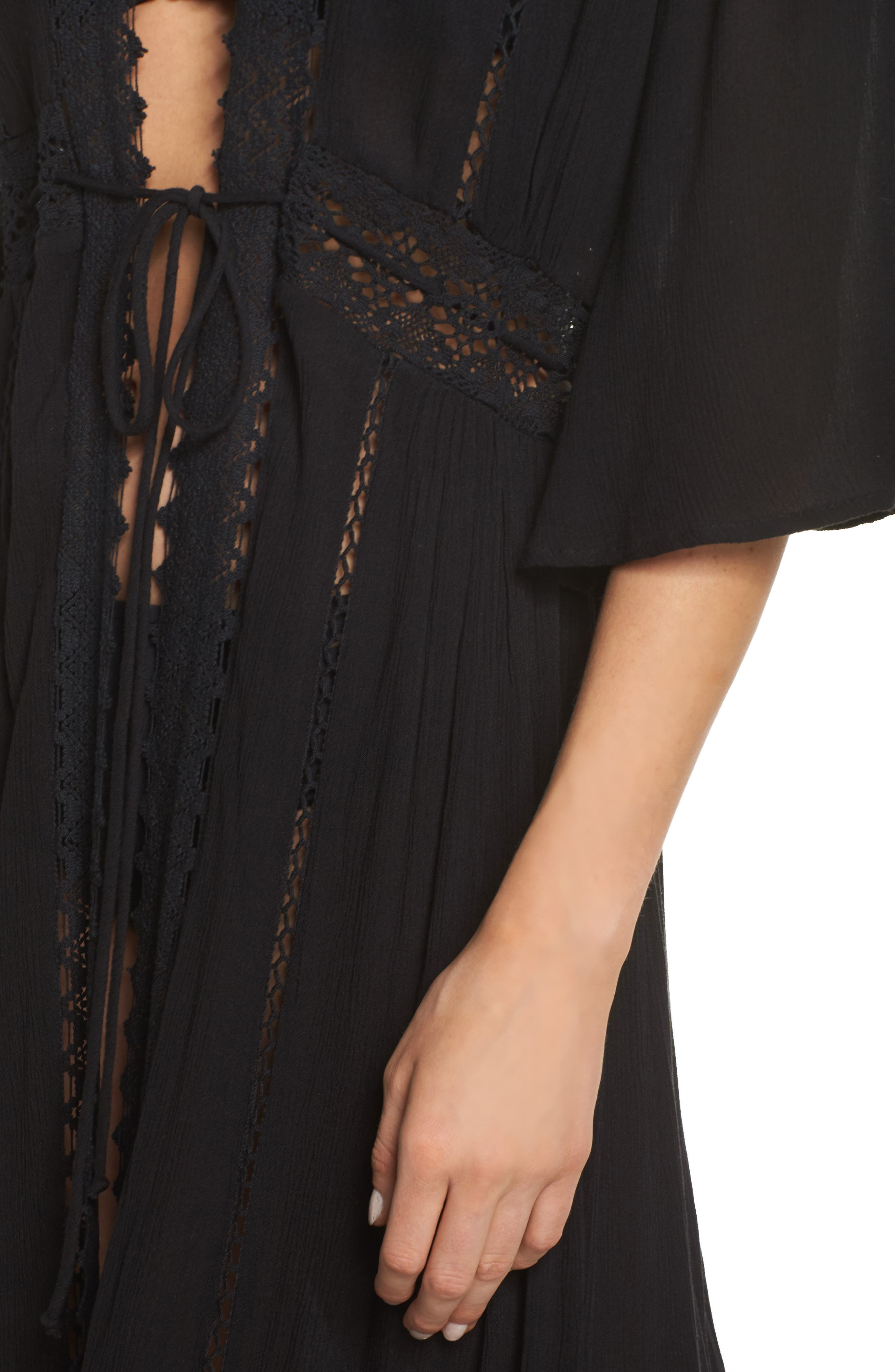 Cover-Up Duster Cardigan,                             Alternate thumbnail 4, color,                             001