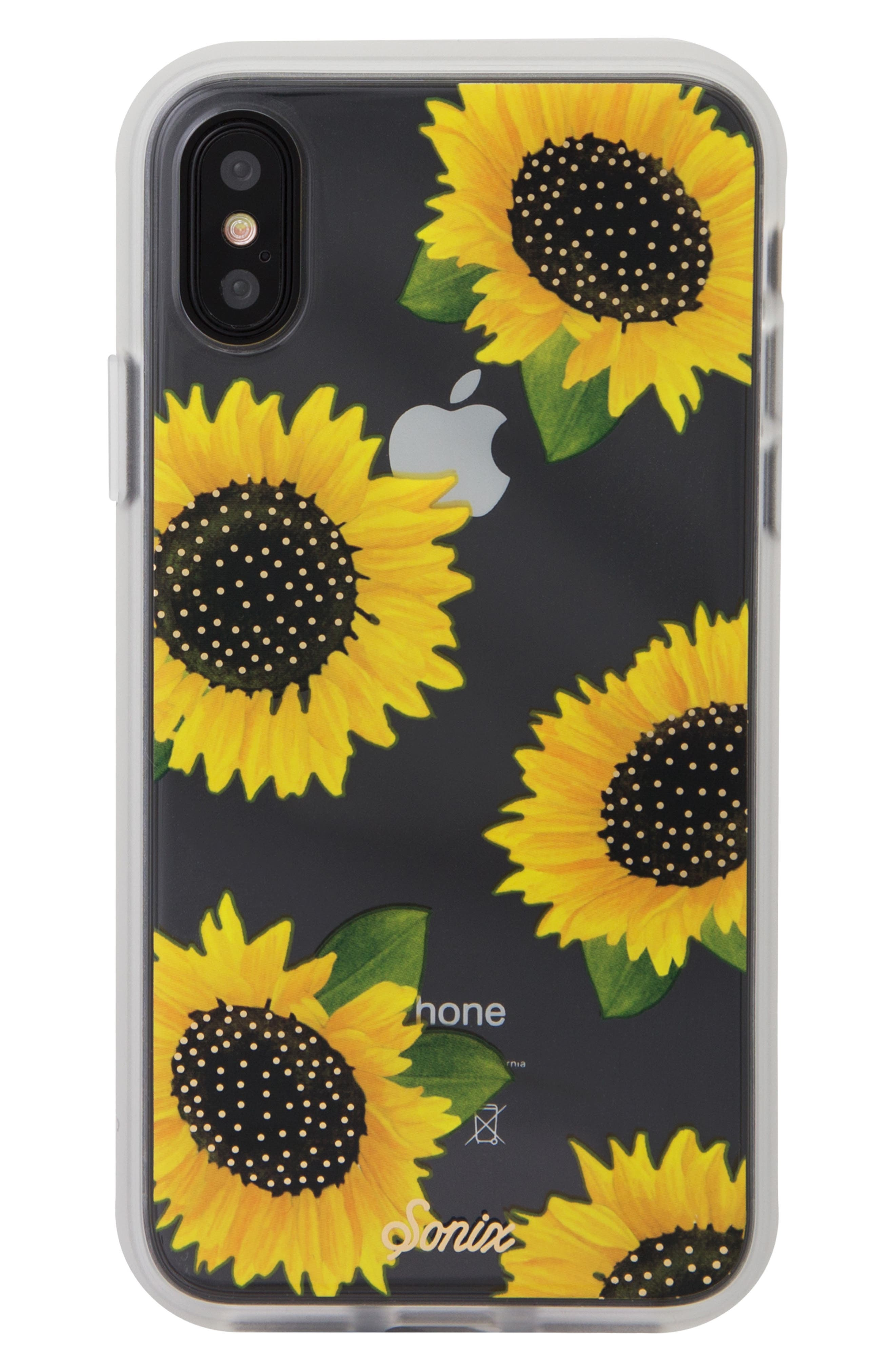 Sunflower iPhone X/Xs, XR & X Max Case,                             Main thumbnail 1, color,                             YELLOW