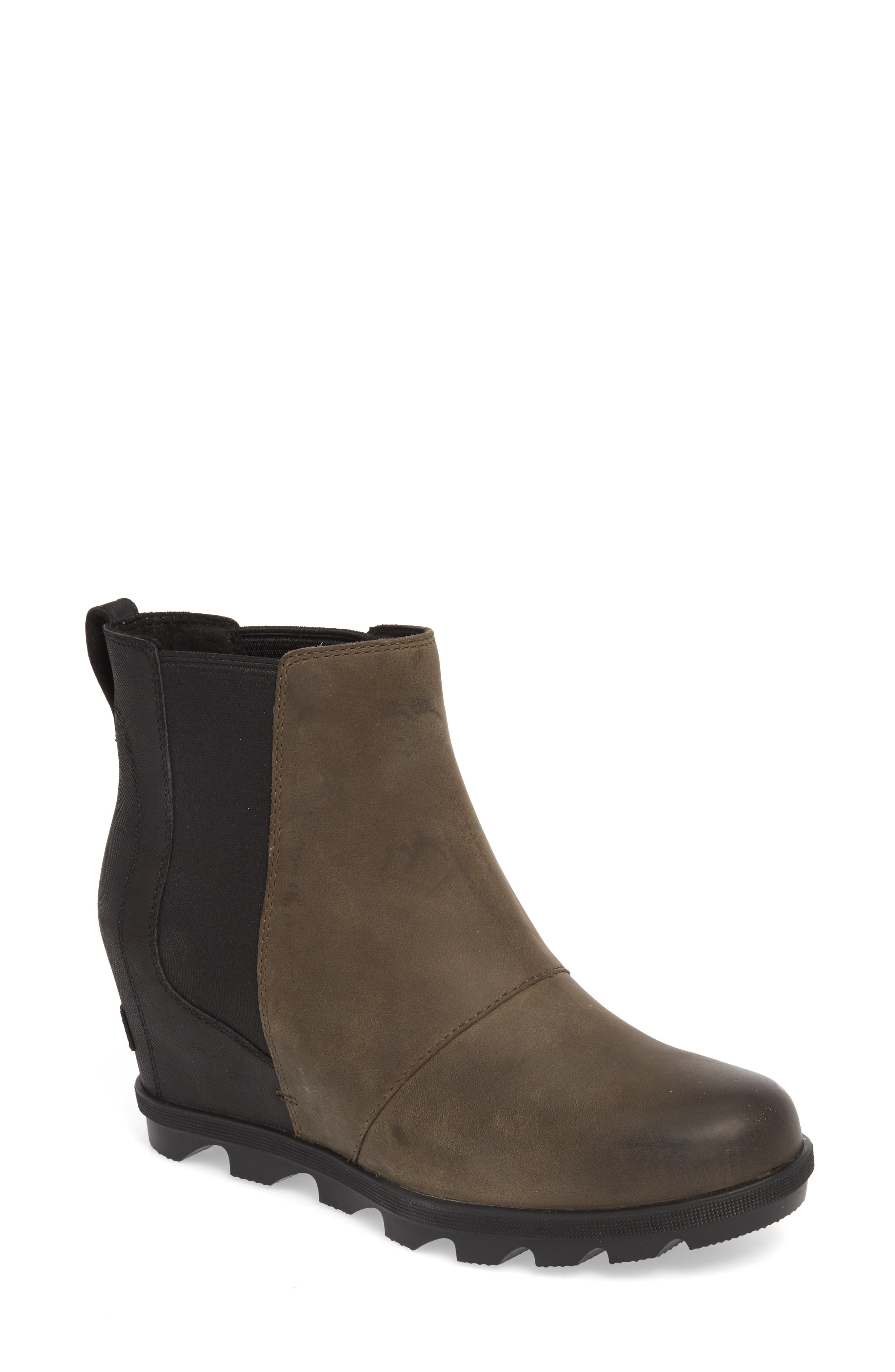 Sorel Joan Wedge Ii Waterproof Chelsea Bootie, Grey