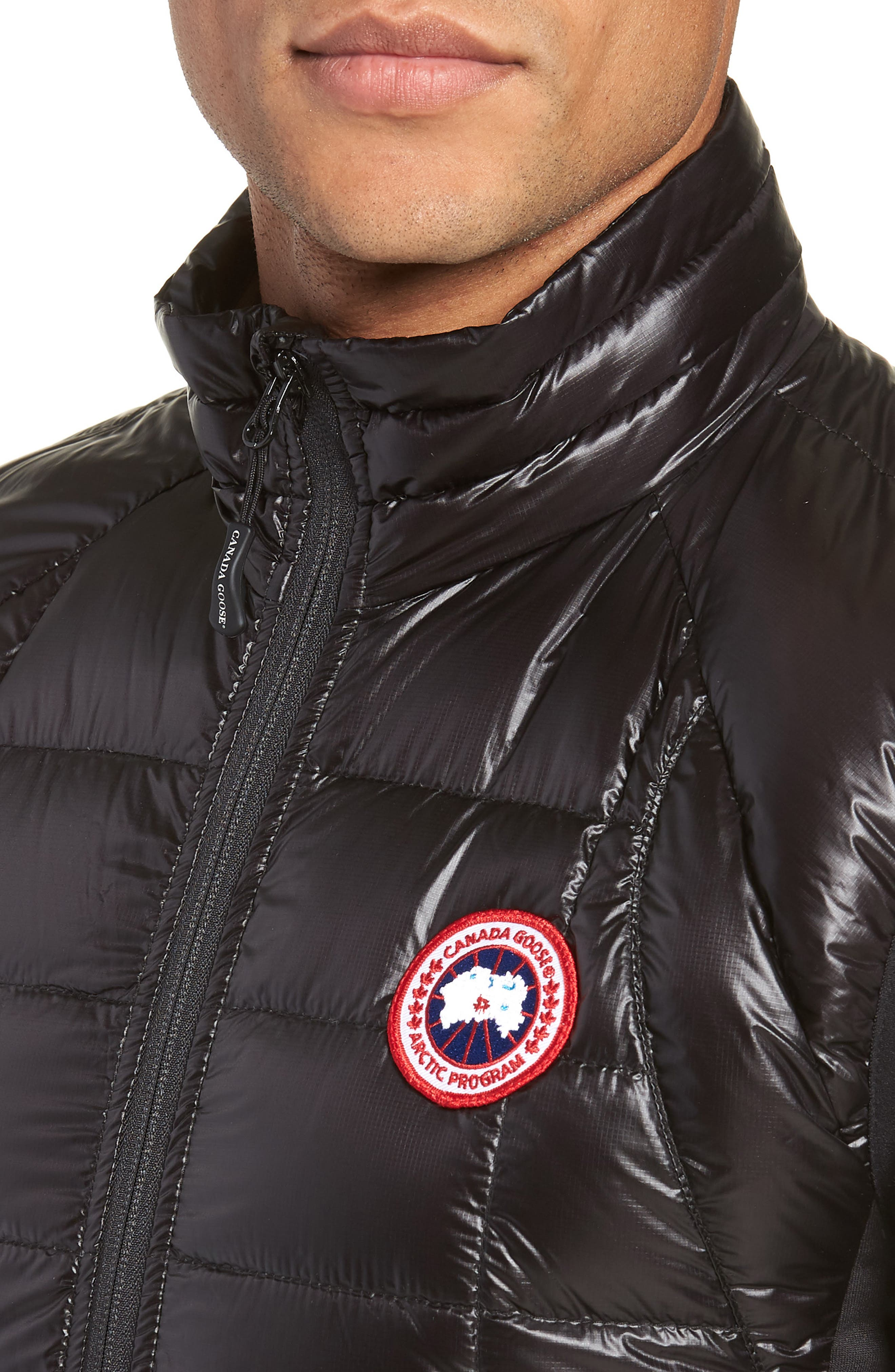 'Hybridge<sup>™</sup> Lite' Slim Fit Packable Quilted 800-Fill Down Vest,                             Alternate thumbnail 4, color,                             BLACK/ GRAPHITE