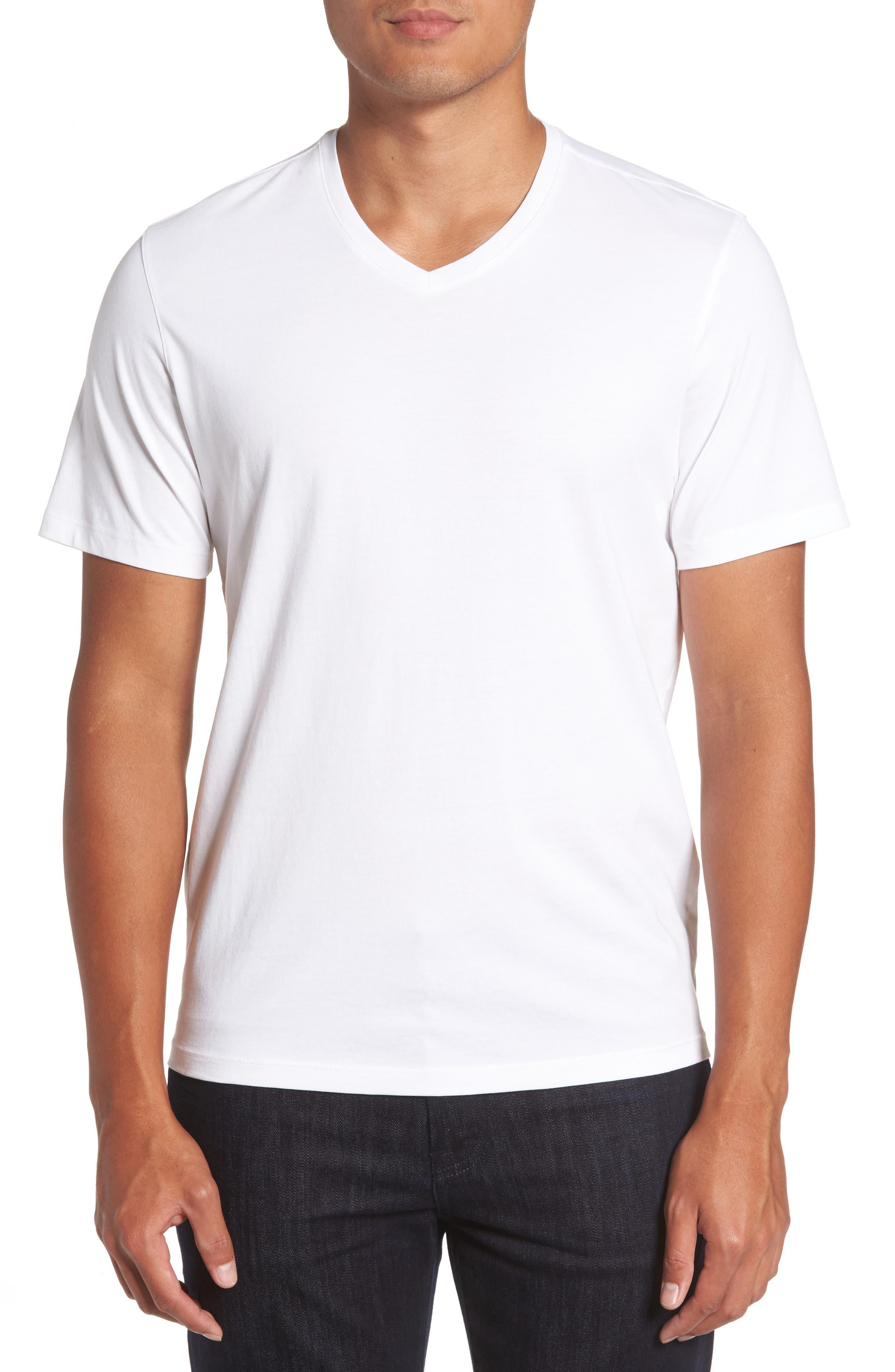 Mercer V-Neck T-Shirt,                         Main,                         color, WHITE