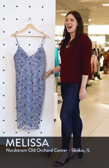 Sapphire Lace Midi Dress, sales video thumbnail
