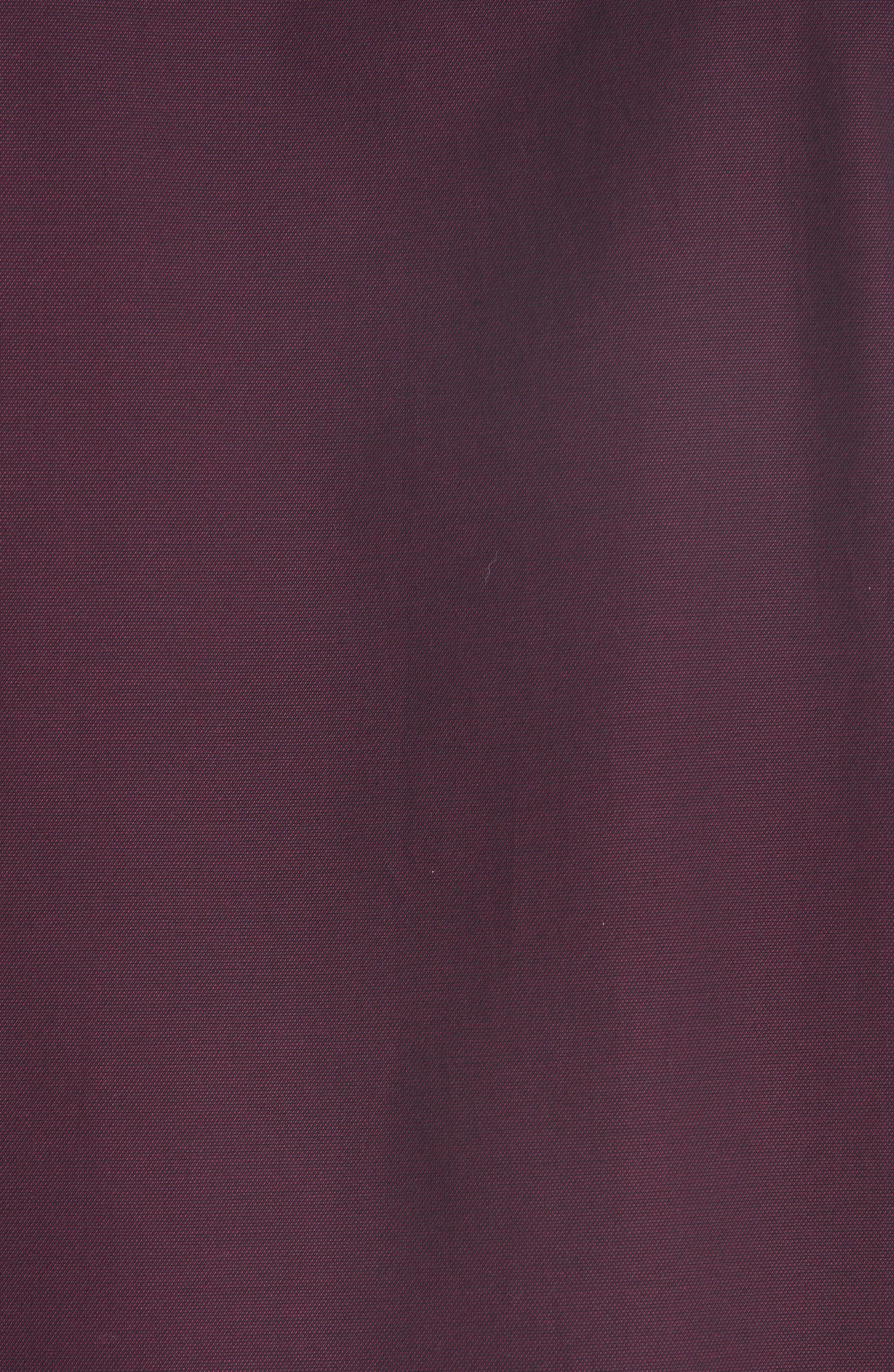 Solid Sport Shirt,                             Alternate thumbnail 5, color,                             BORDEAUX