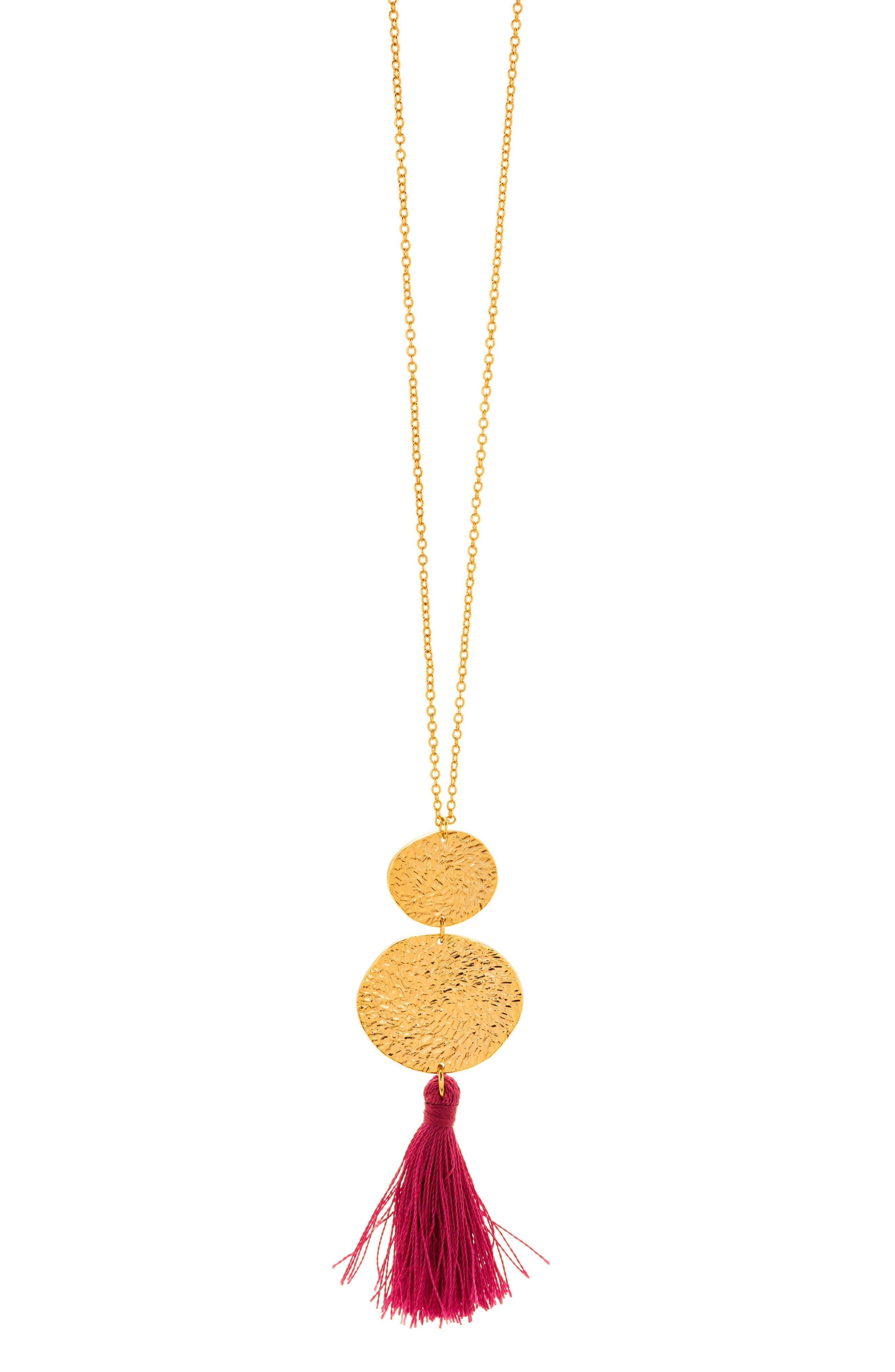 Phoenix Pendant Necklace,                             Alternate thumbnail 2, color,                             BERRY/GOLD