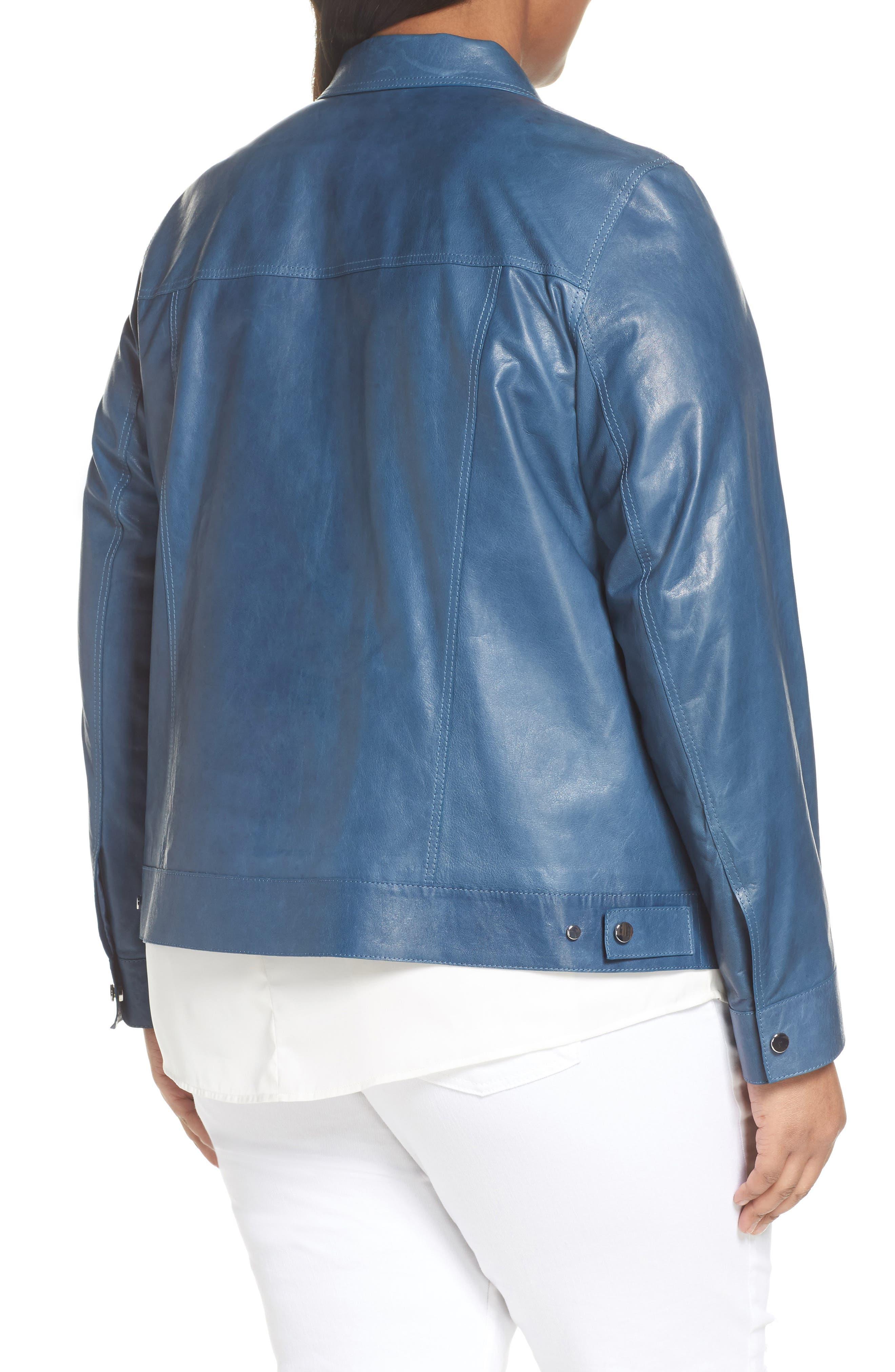 Destiny Leather Jacket,                             Alternate thumbnail 2, color,                             480