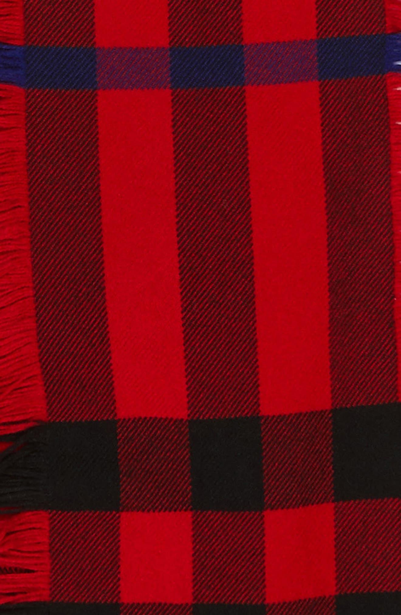 Mega Fashion Fringe Wool Scarf,                             Alternate thumbnail 4, color,                             608