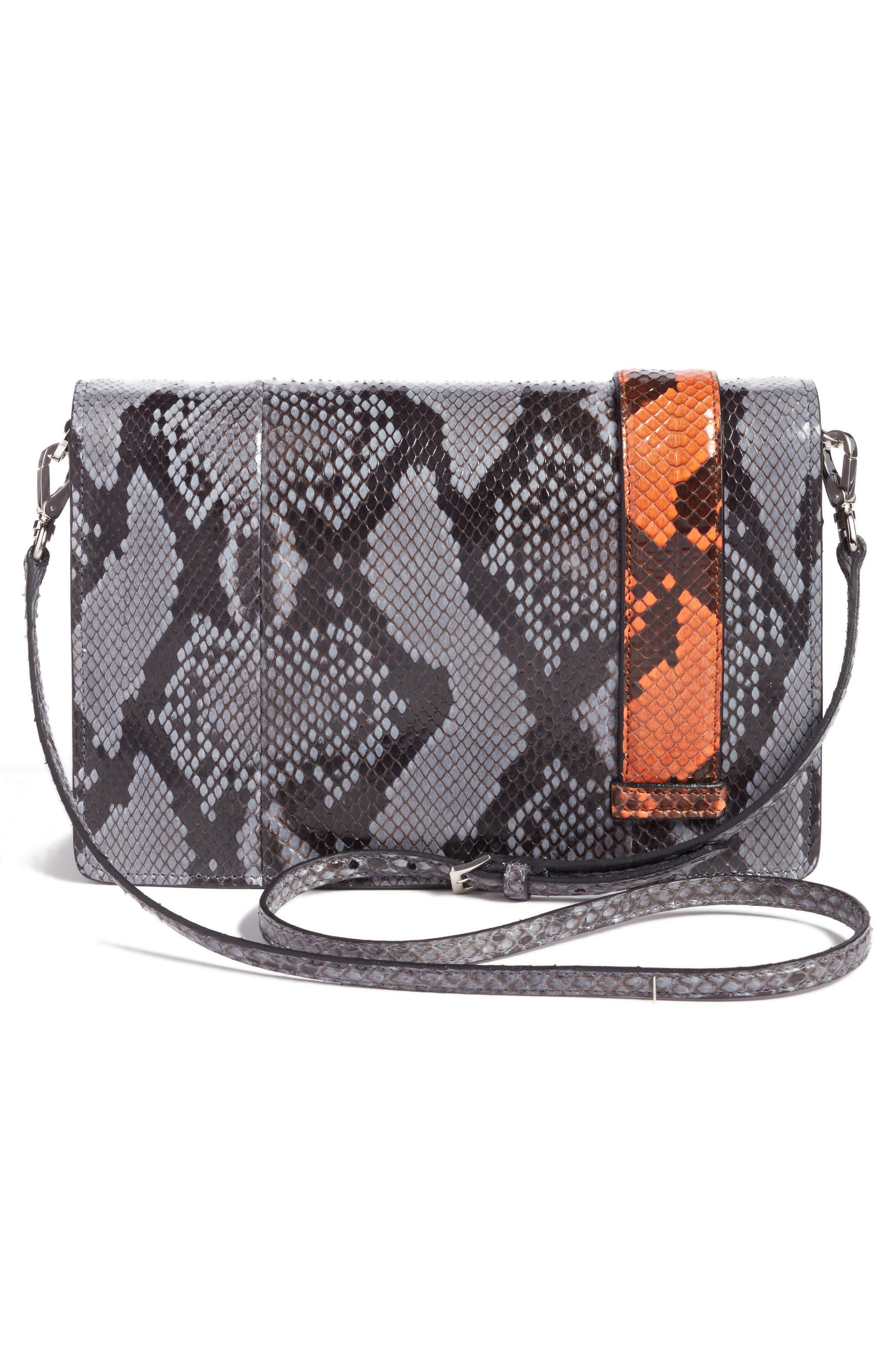 Genuine Python Shoulder Bag,                             Alternate thumbnail 3, color,                             460