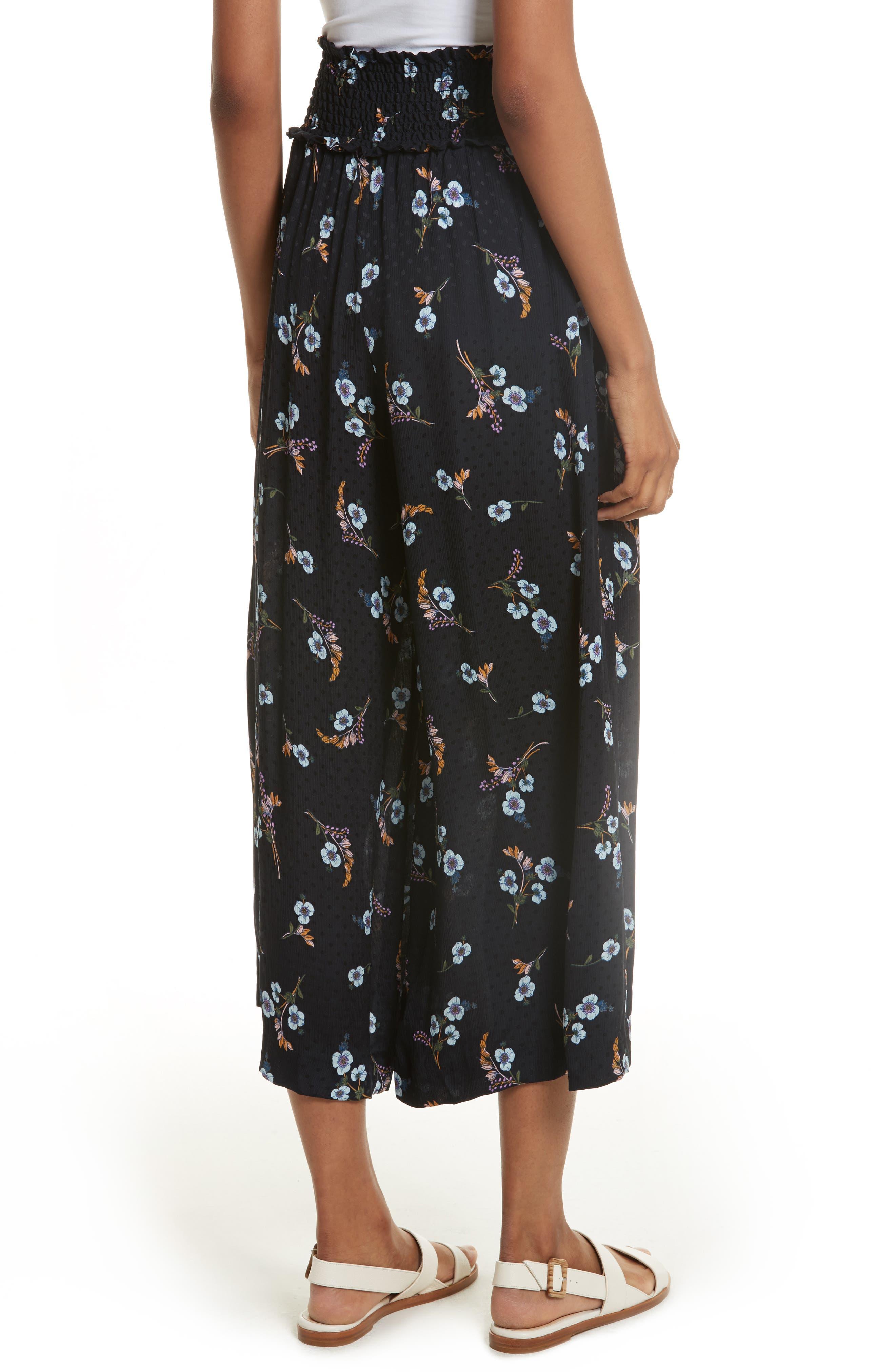 Natalie Fleur Wide Leg Crop Silk Pants,                             Alternate thumbnail 2, color,                             497