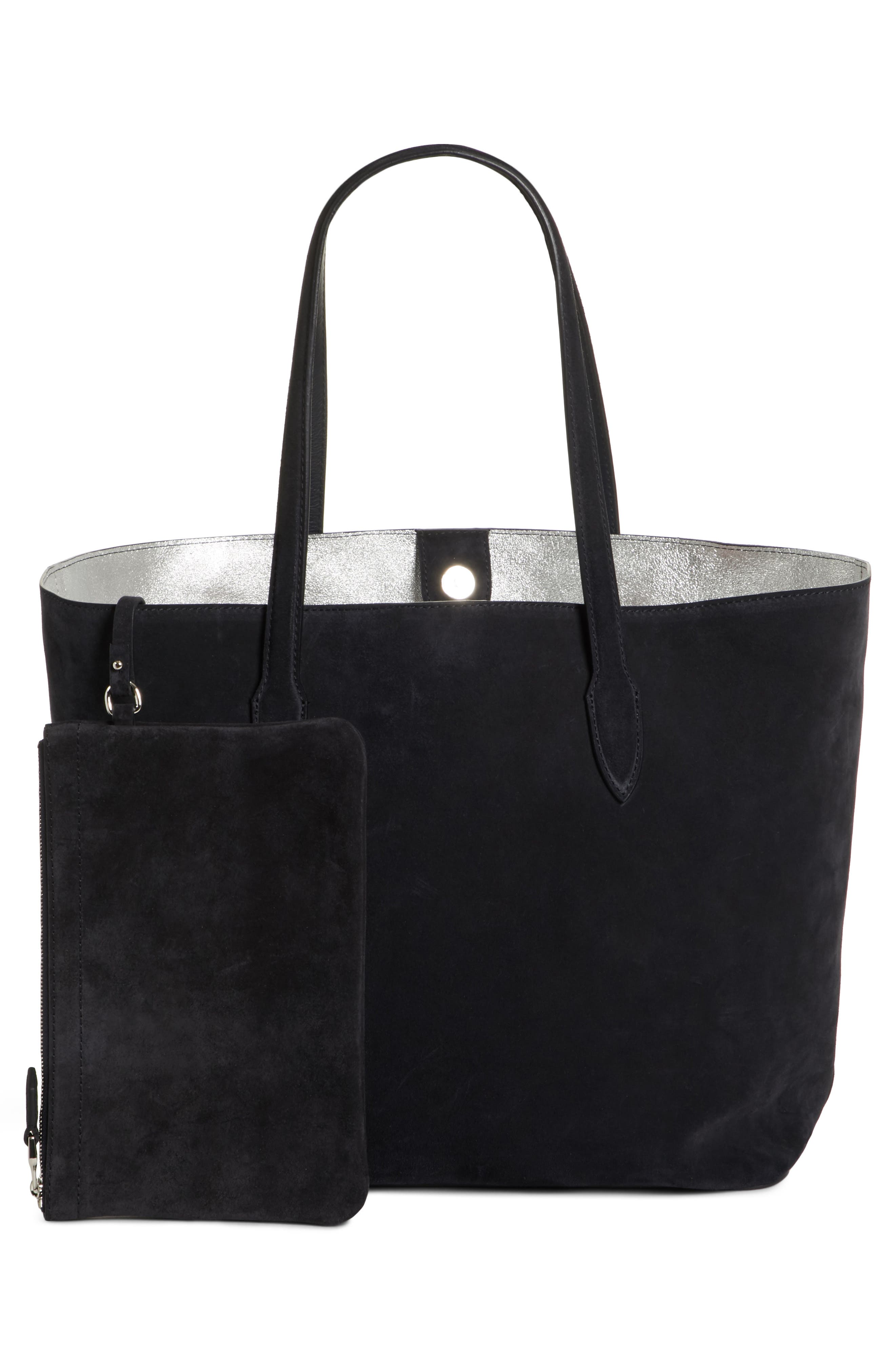 Jin Suede Tote,                             Alternate thumbnail 3, color,                             001