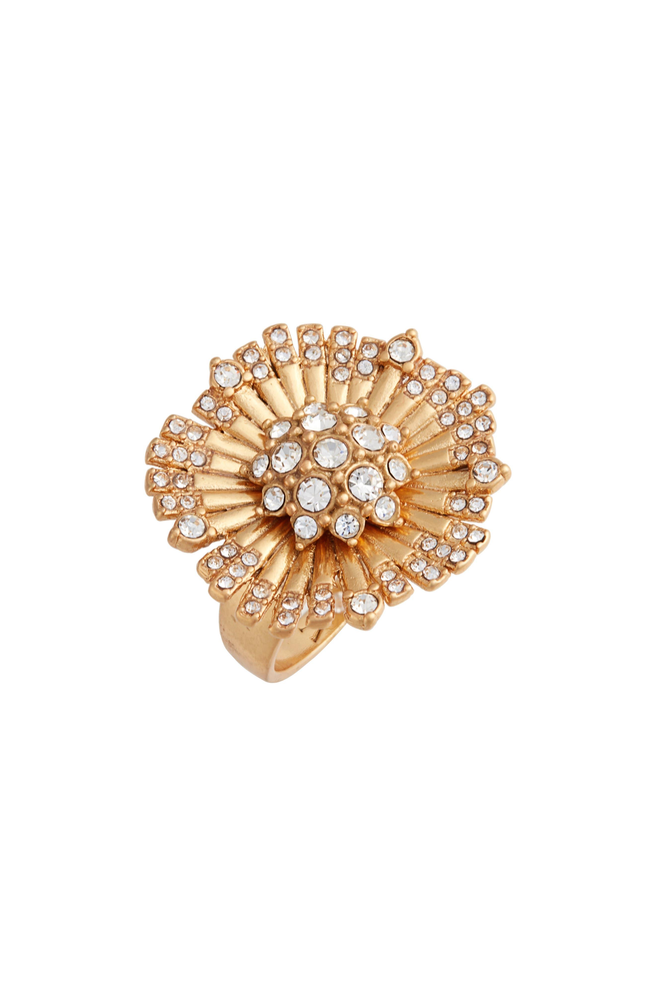 Danish Garden Flower Ring in Gold