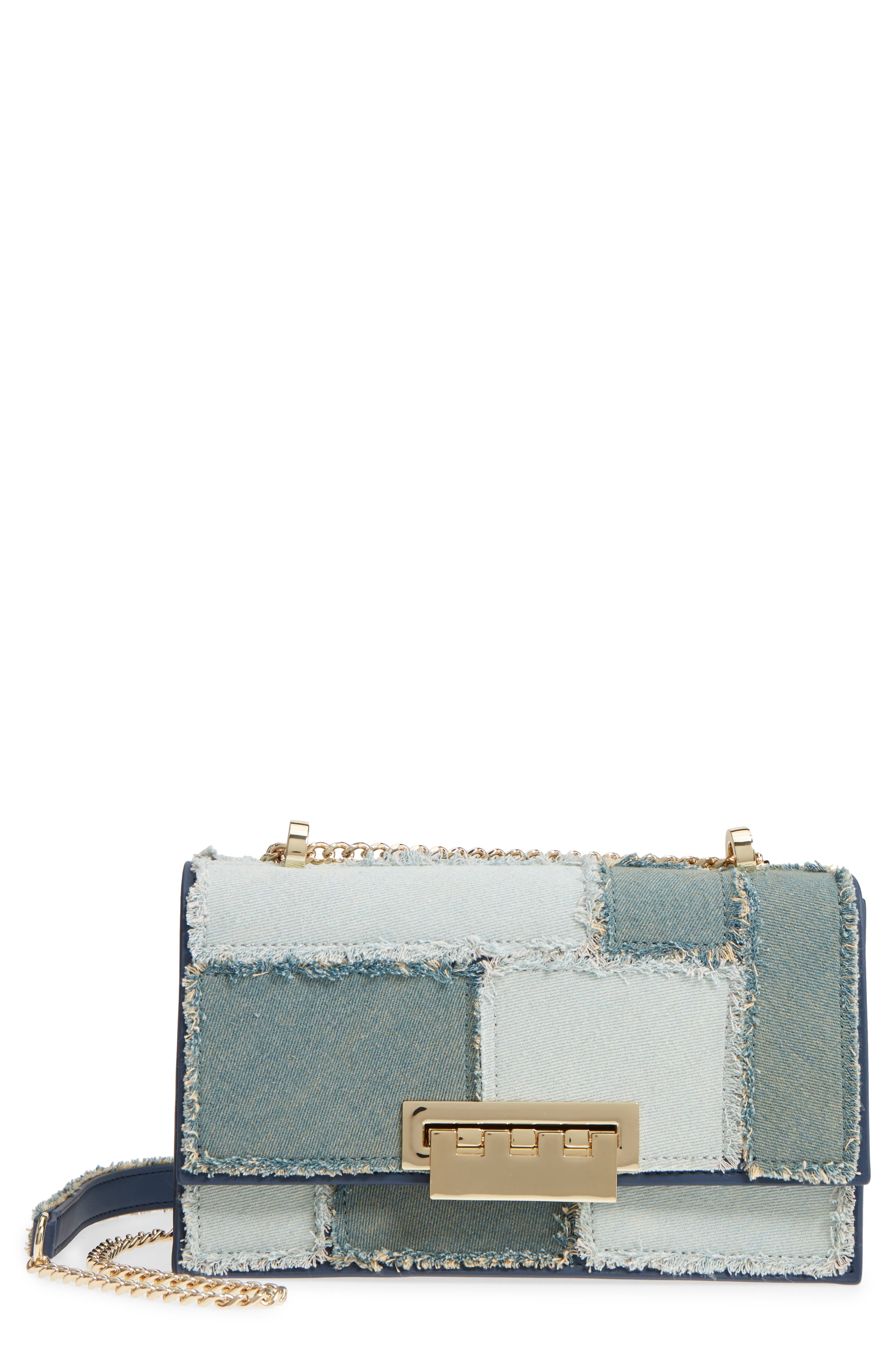 Earthette Patchwork Denim Accordion Bag,                         Main,                         color,