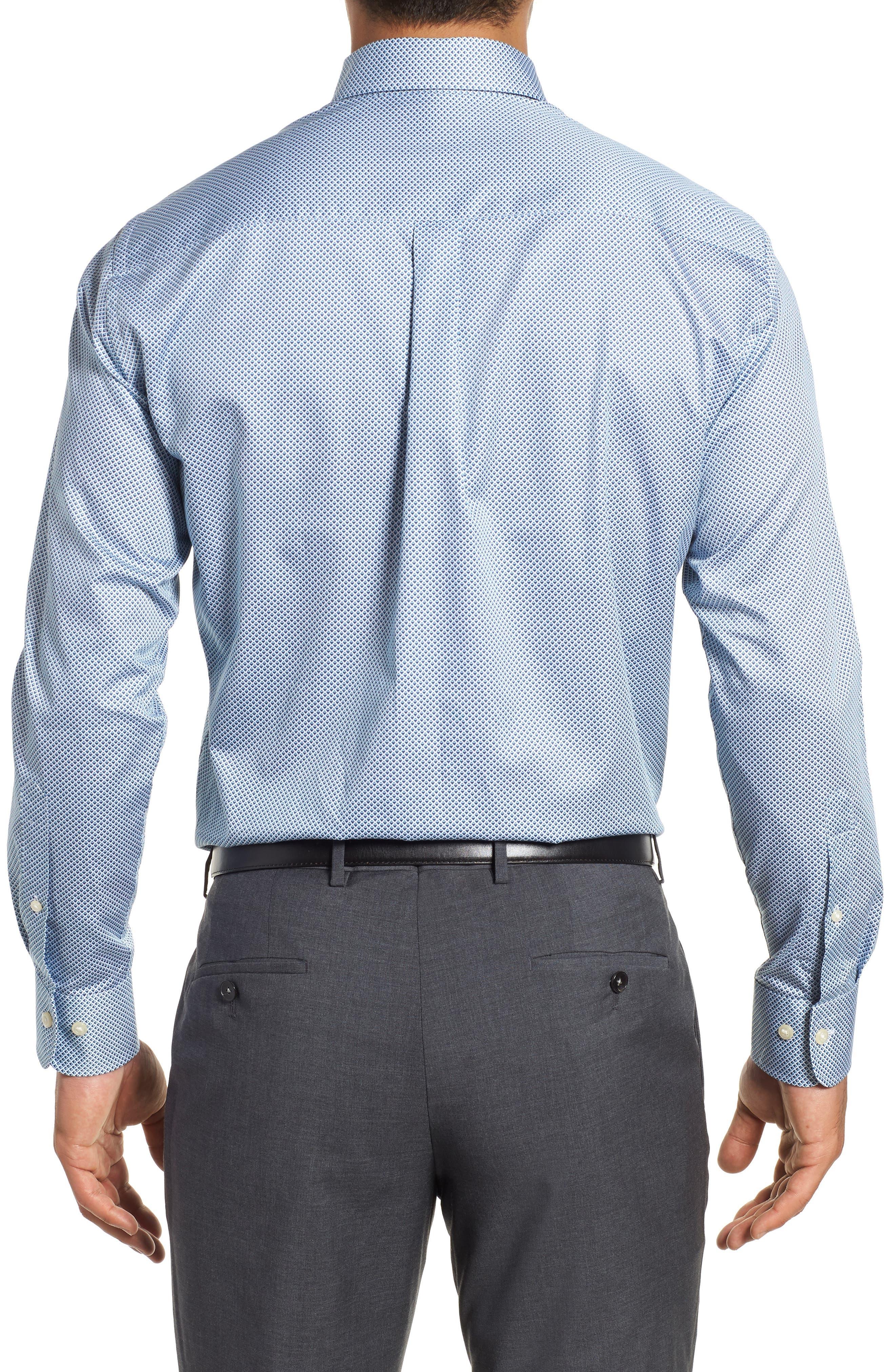Diamond in the Rough Regular Fit Sport Shirt,                             Alternate thumbnail 3, color,                             NAVY