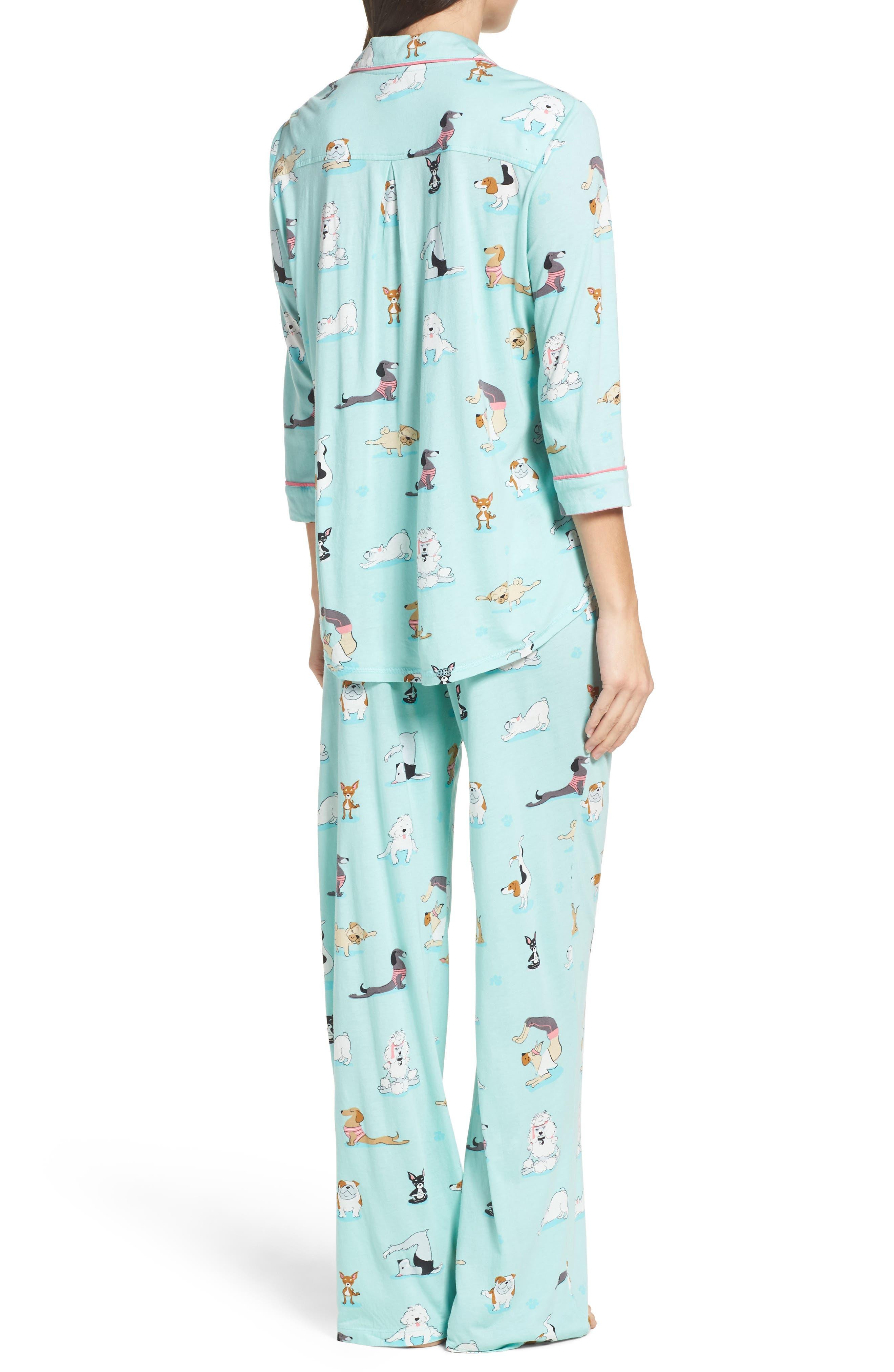 Playful Print Pajamas & Eye Mask,                             Alternate thumbnail 9, color,