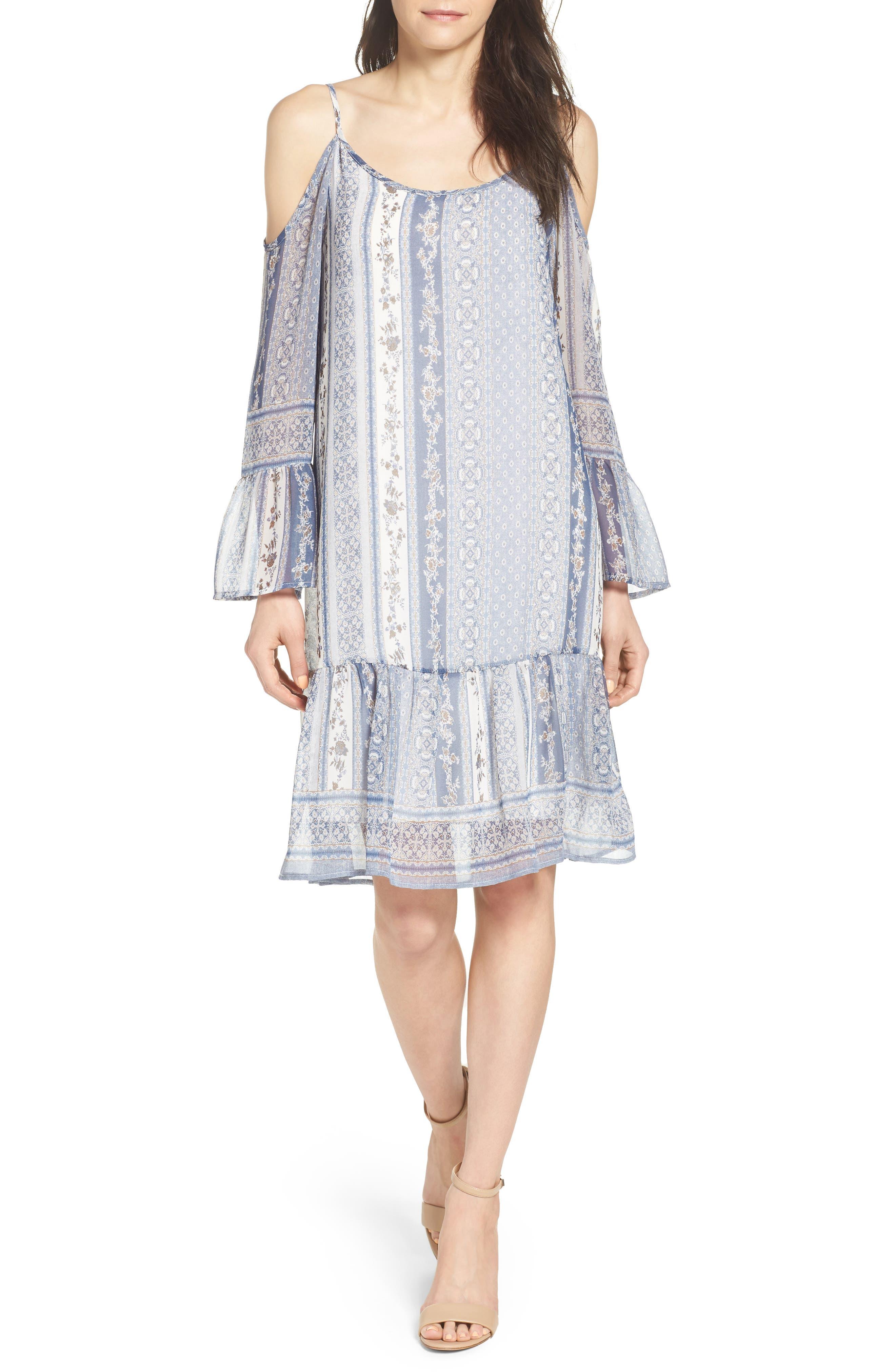 Cold Shoulder Dress,                             Alternate thumbnail 5, color,                             450