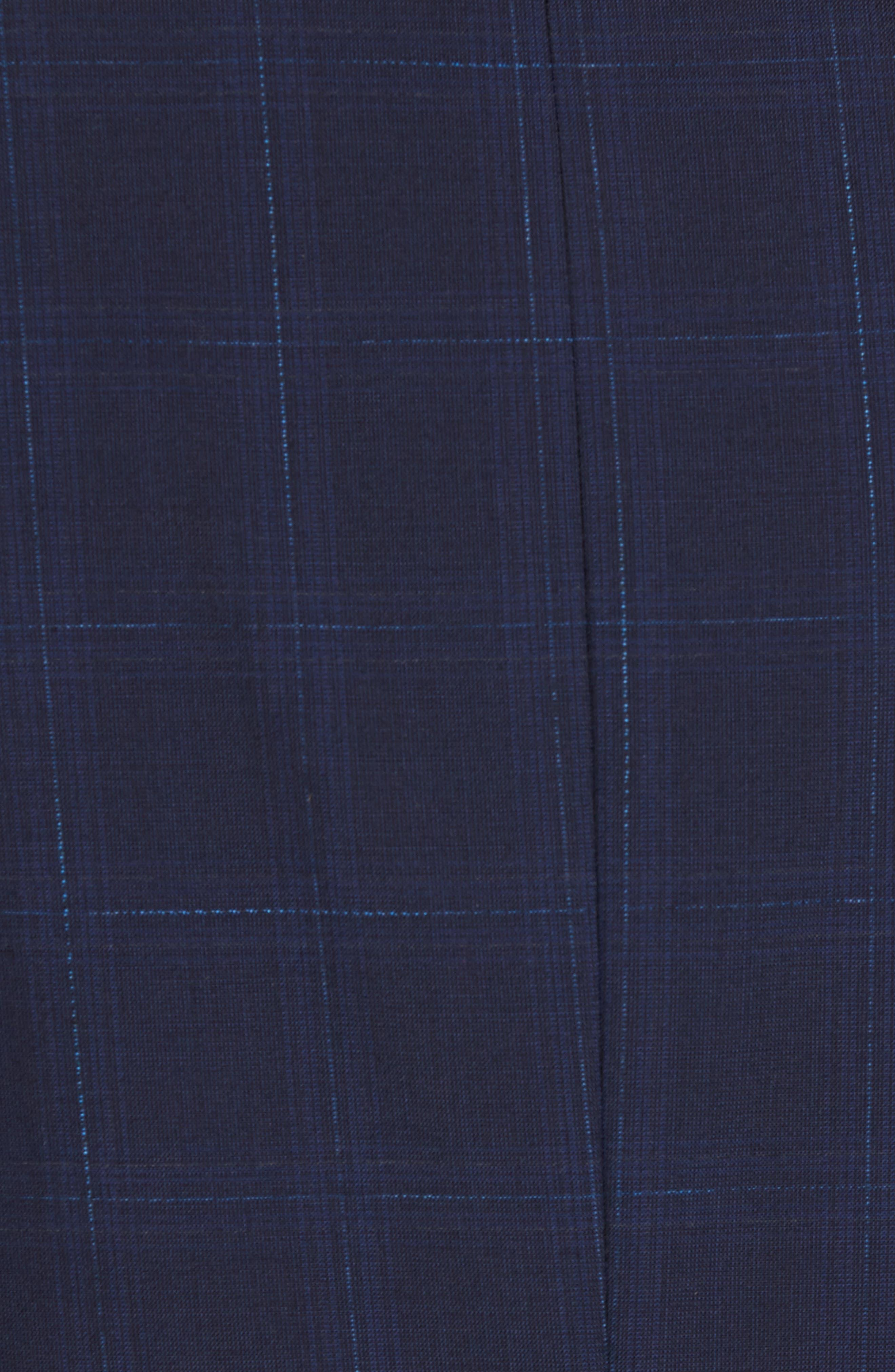 Chambers Trim Fit Plaid Sport Coat,                             Alternate thumbnail 6, color,                             497