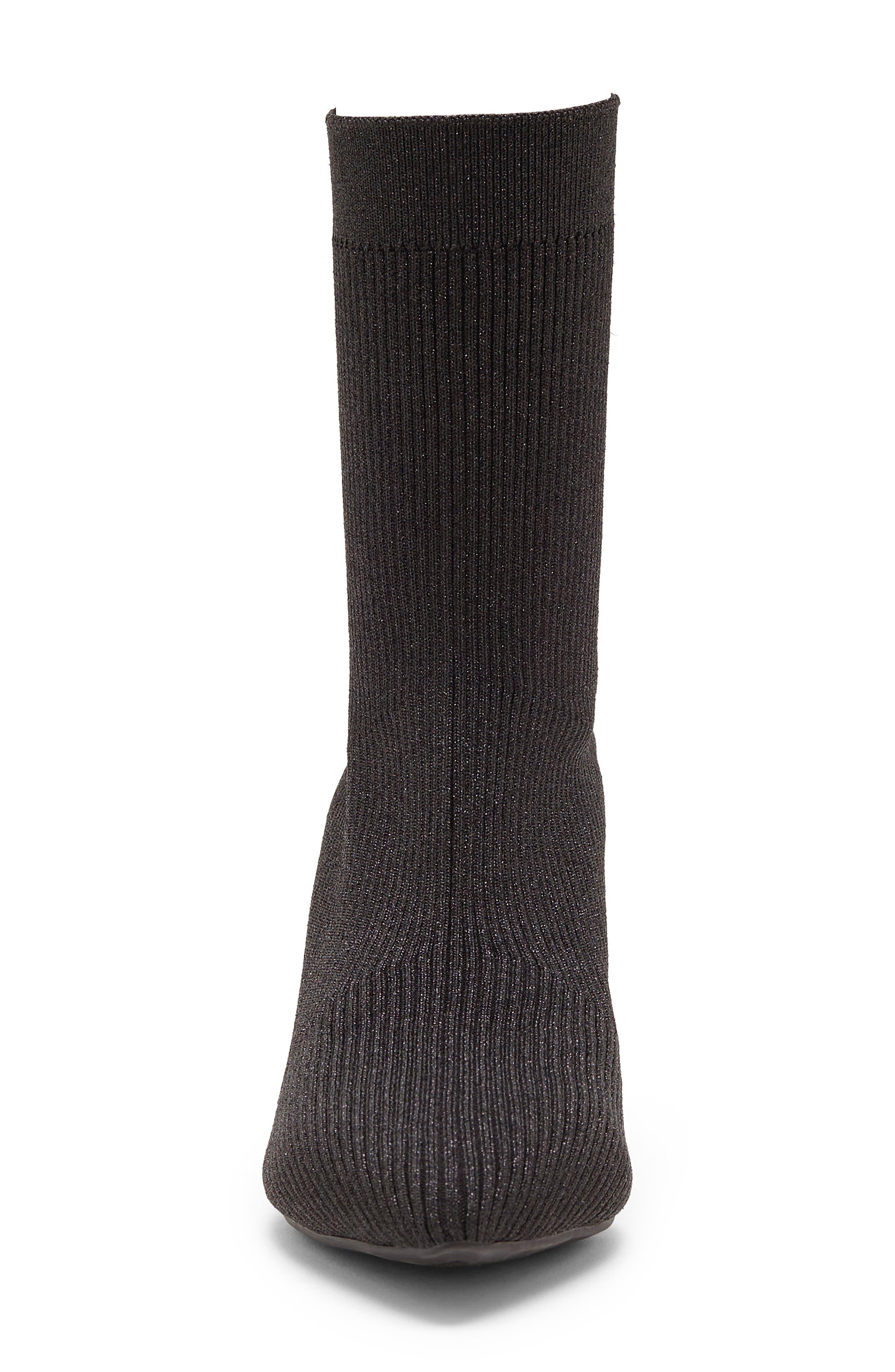 Roreeta Sock Boot,                             Alternate thumbnail 4, color,                             BLACK FABRIC