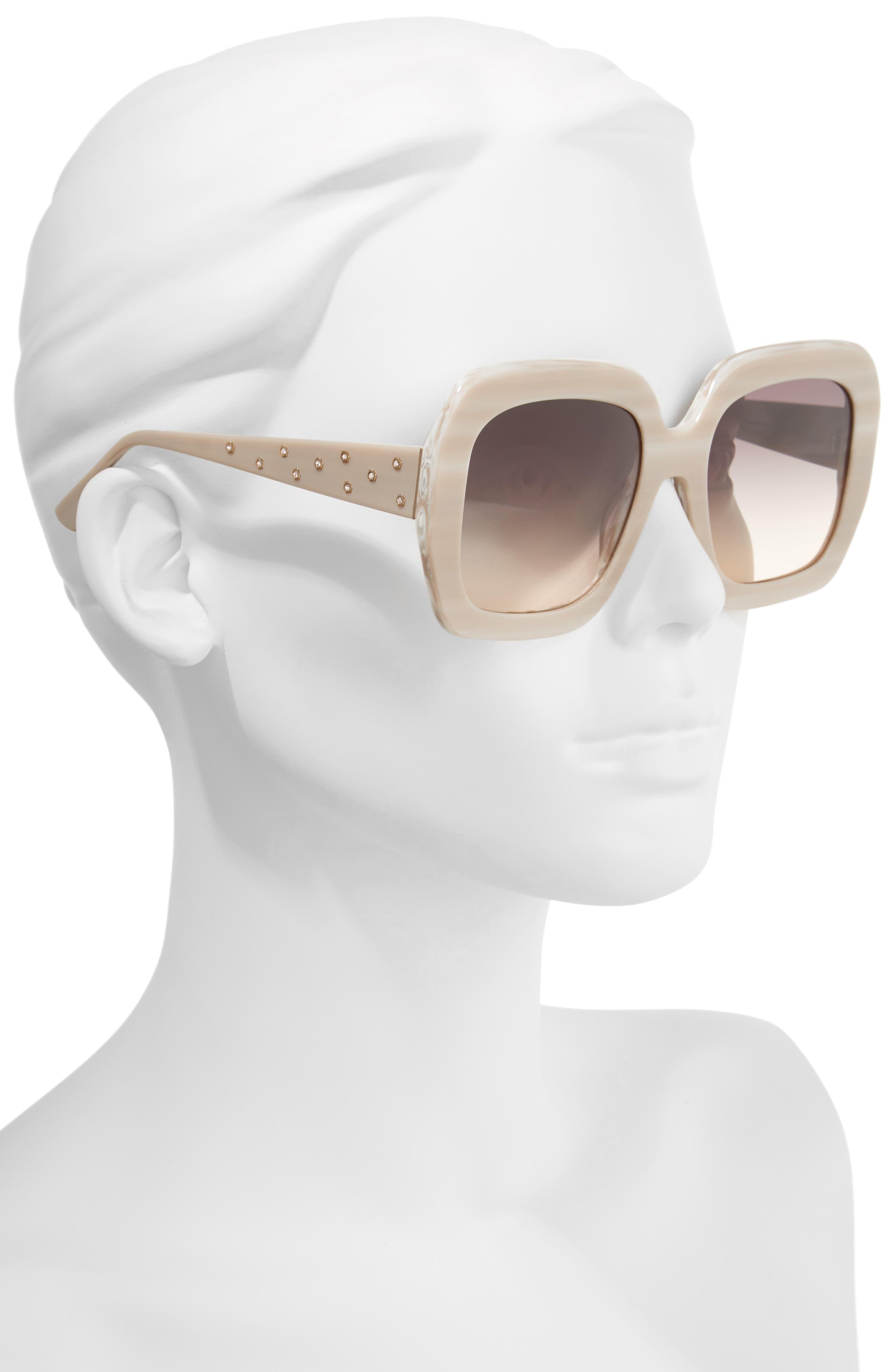 Lexington 55mm Square Sunglasses,                             Alternate thumbnail 6, color,