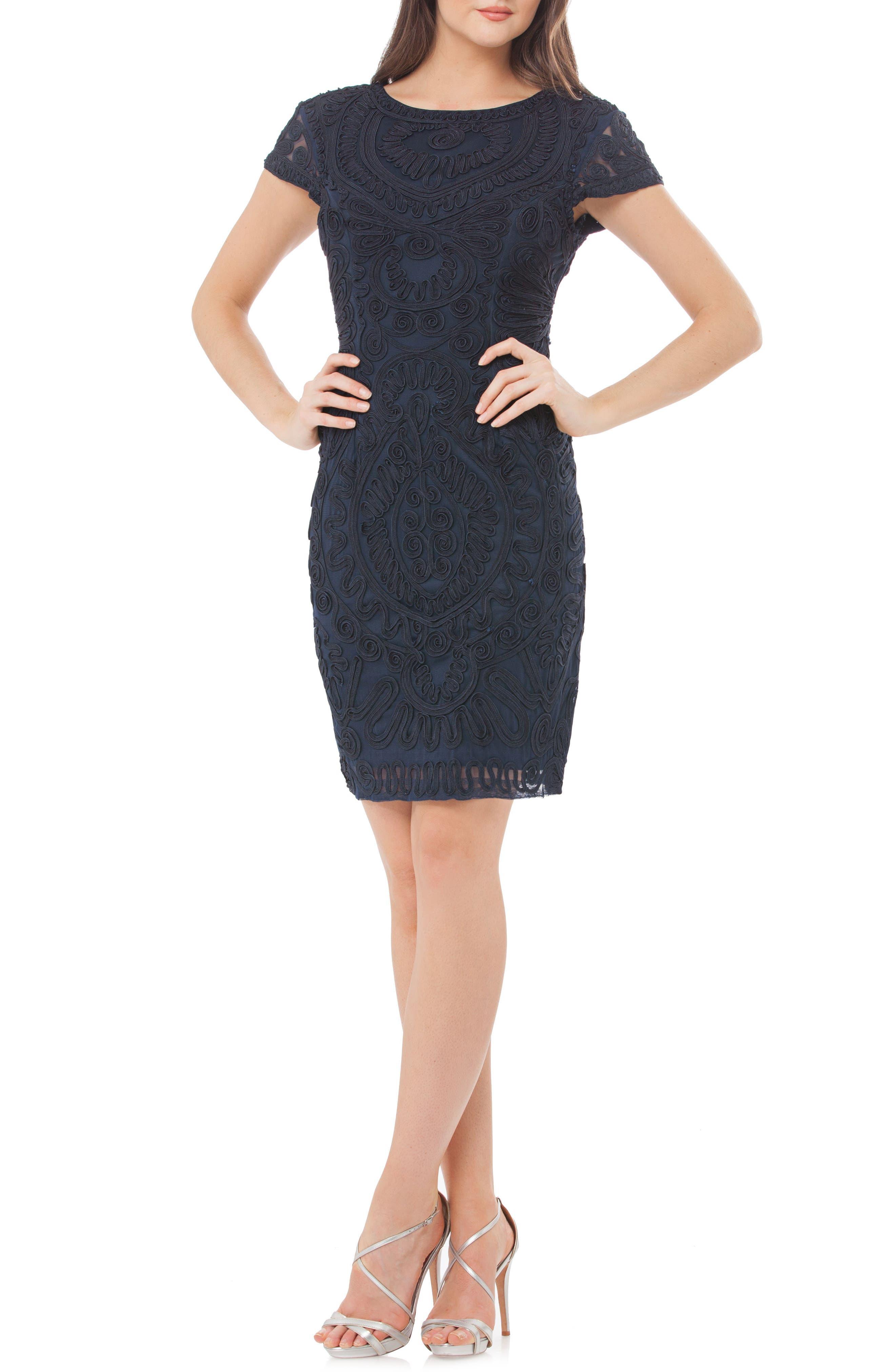 Js Collections Soutache Dress, Blue