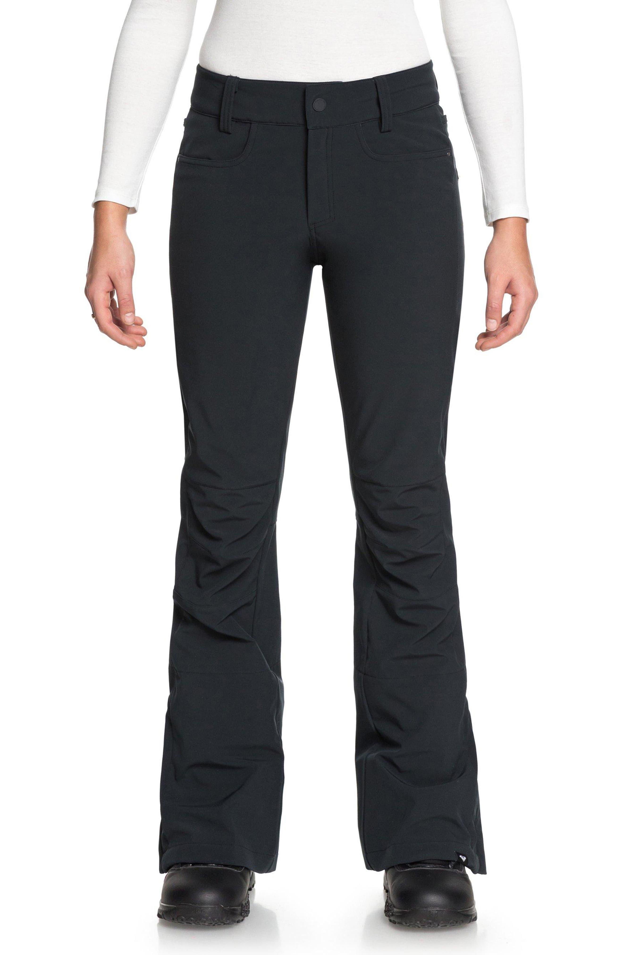 Creek Snow Pants,                         Main,                         color, TRUE BLACK/ POP SNOW LINES