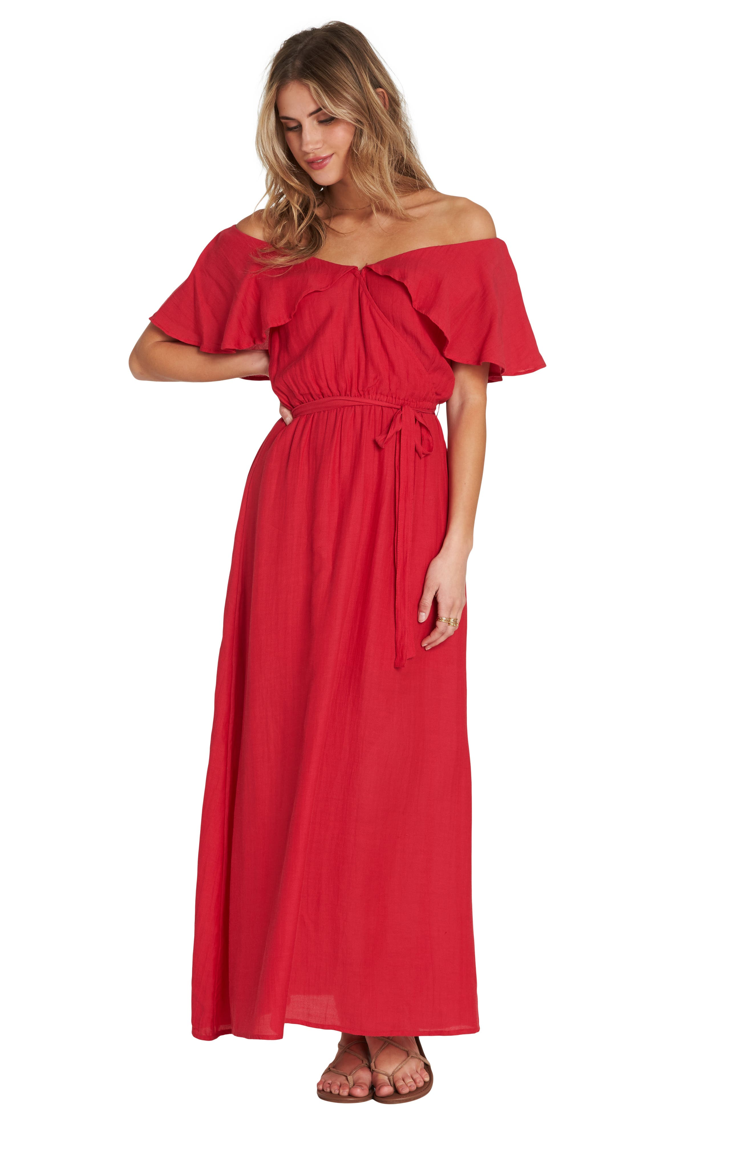 Dance All Night Maxi Dress,                             Alternate thumbnail 4, color,                             GARNET