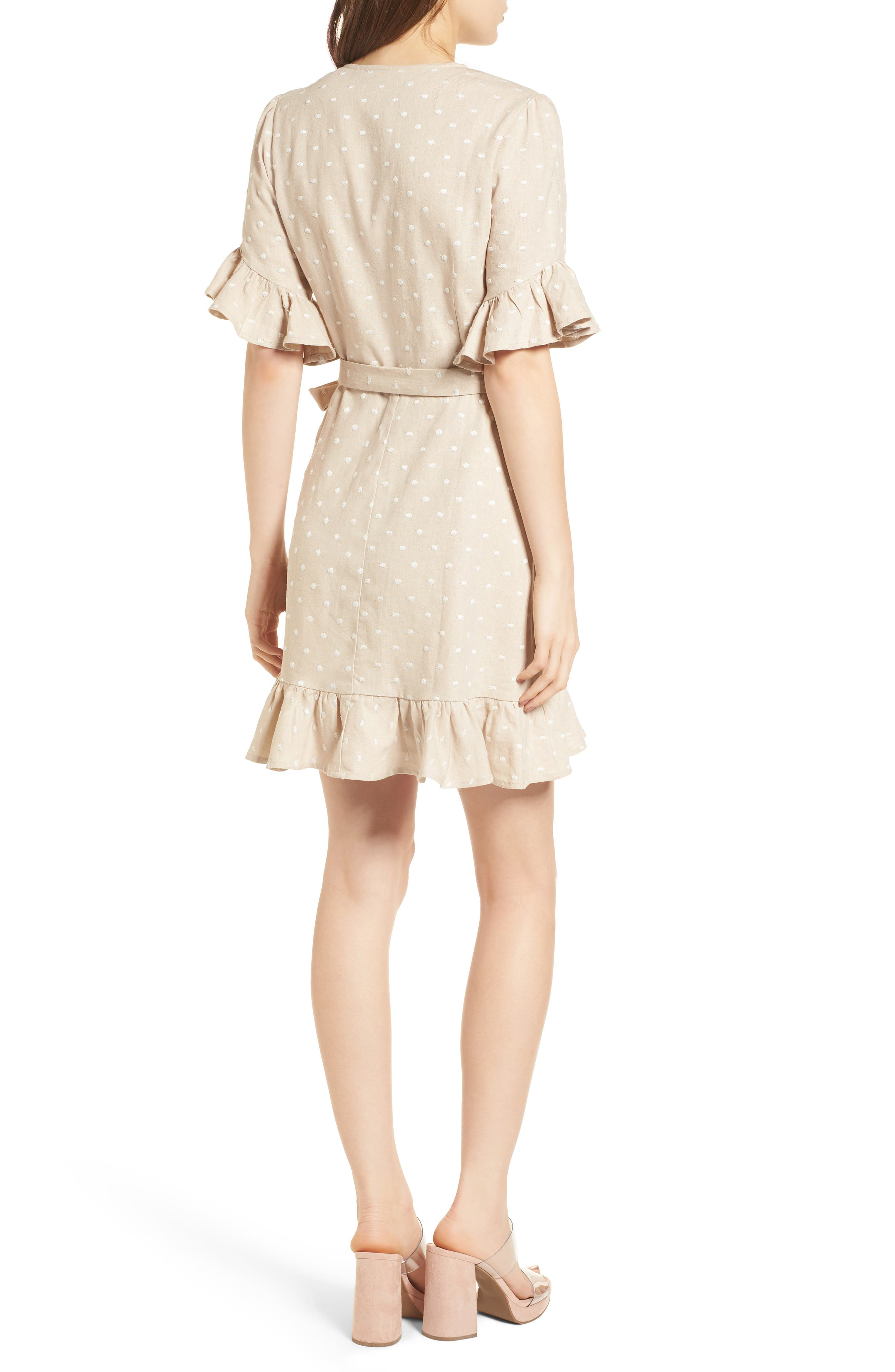Ruffle Wrap Dress,                             Alternate thumbnail 7, color,