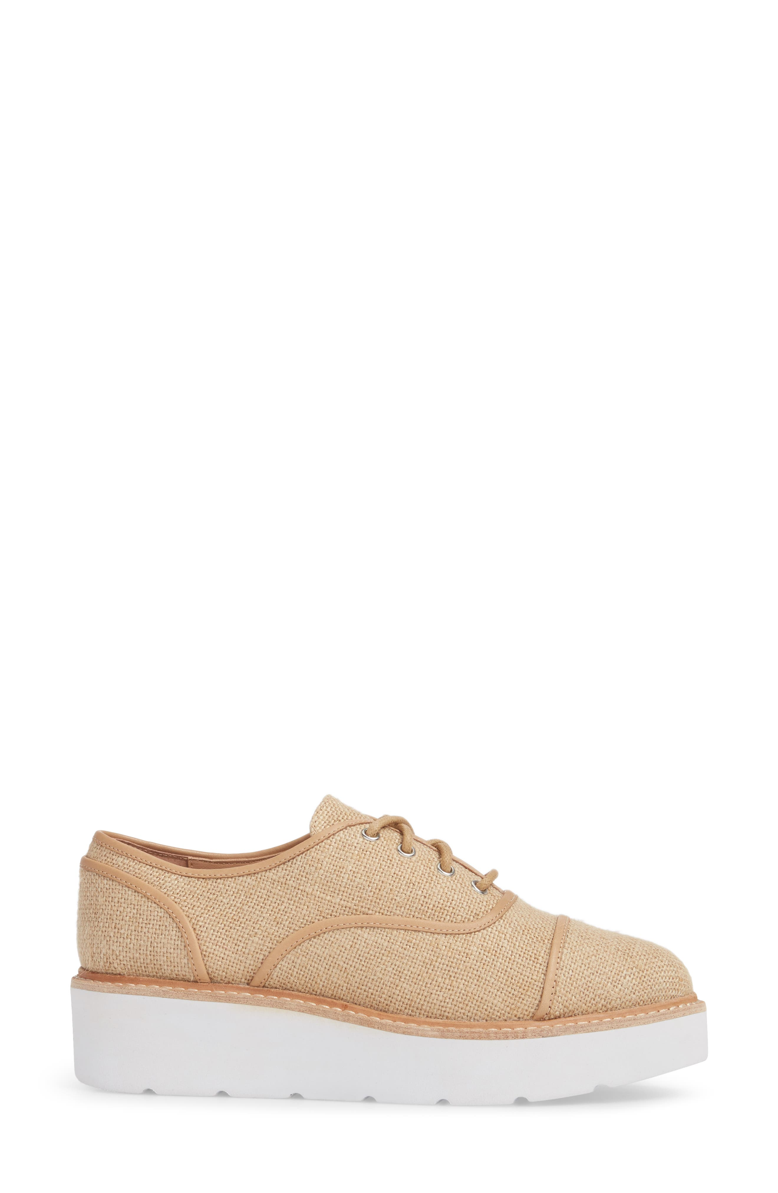Mavis Cap Toe Platform Sneaker,                             Alternate thumbnail 3, color,                             250